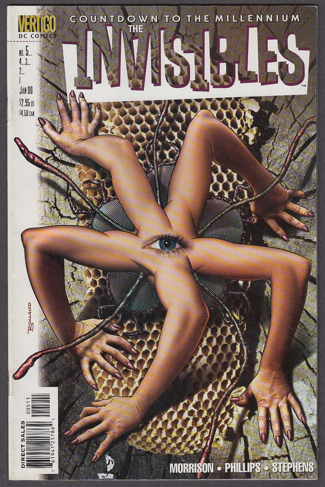 Image for The INVISIBLES #5 Vertigo comic book 1 2000