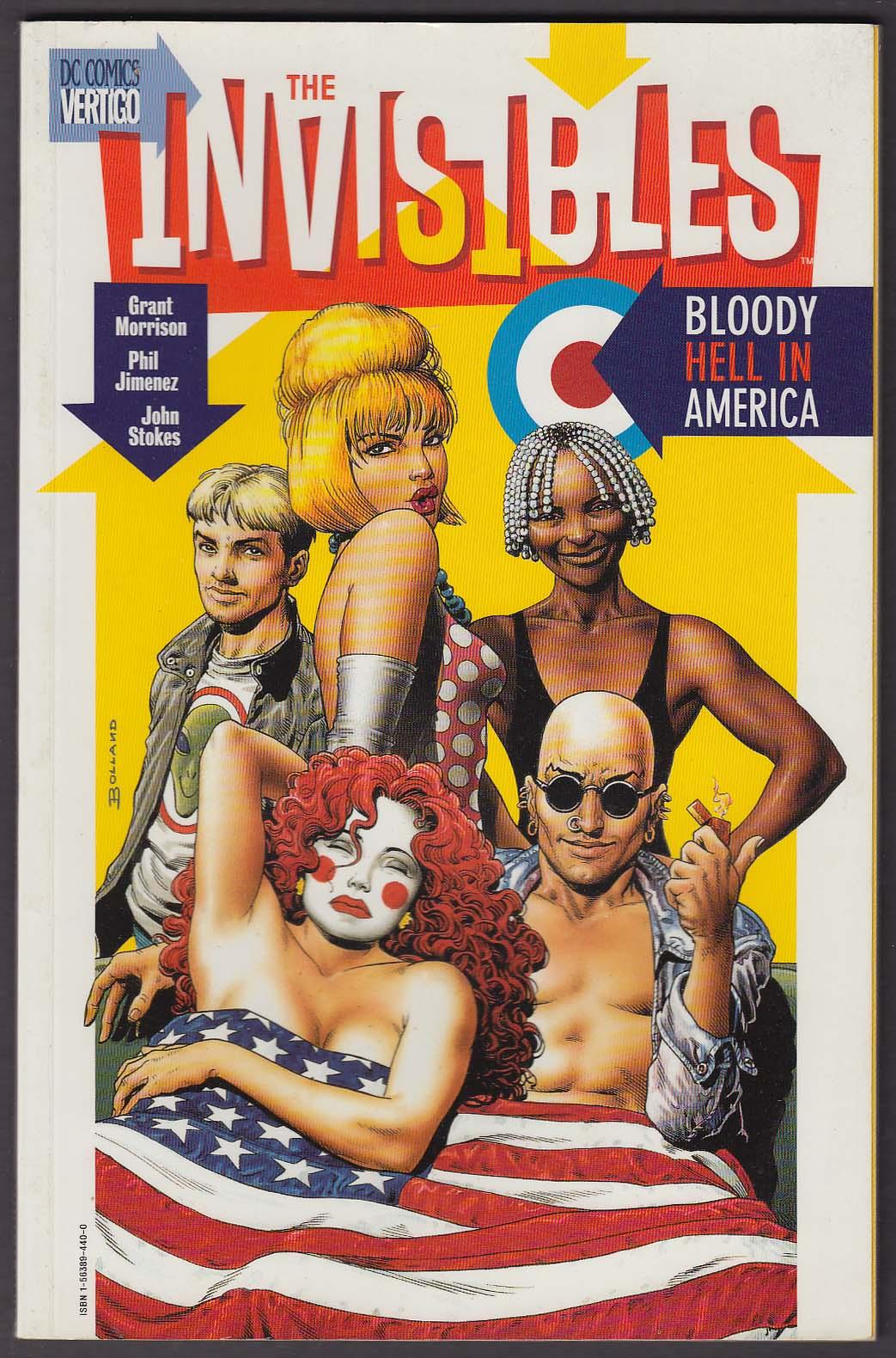 Image for The INVISIBLES: Bloody Hell in America Vertigo comic book 1998