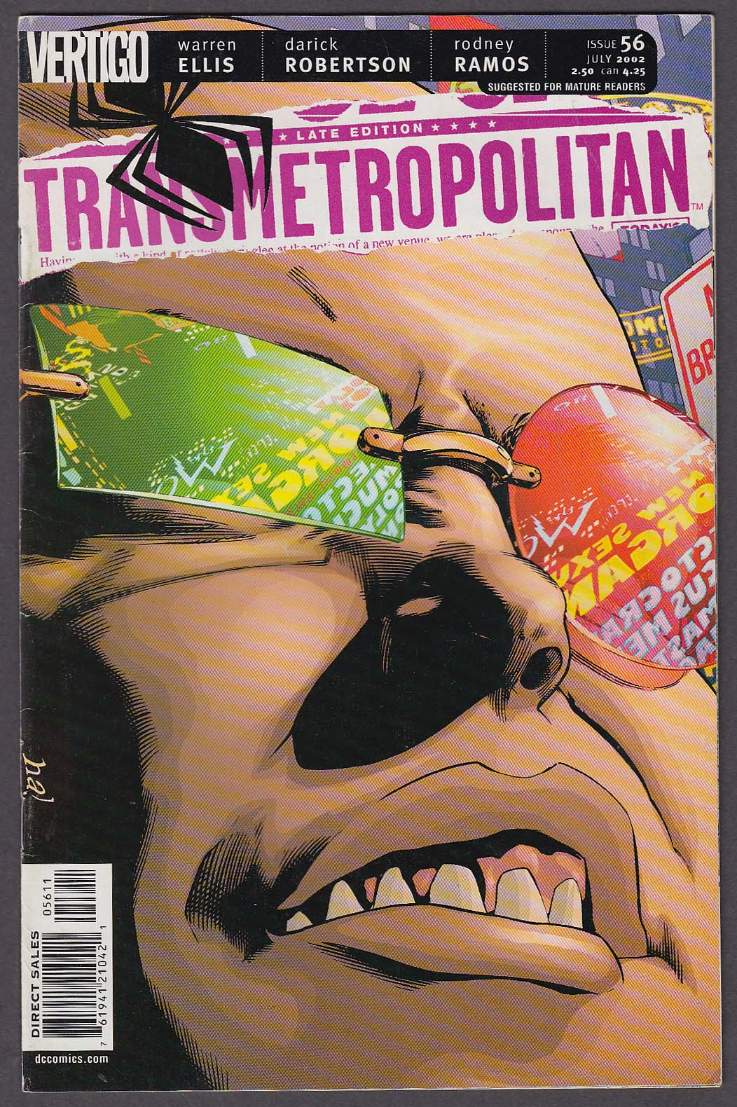 Image for TRANSMETROPOLITAN #56 Vertigo comic book 7 2002