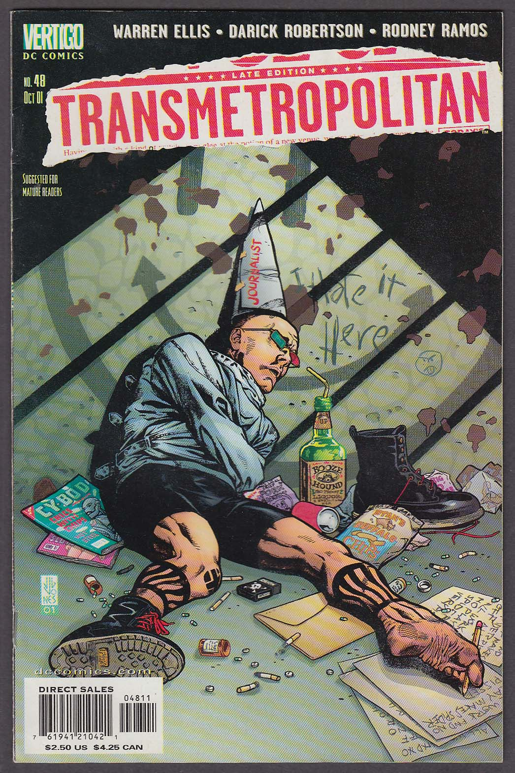 Image for TRANSMETROPOLITAN #48 Vertigo comic book 10 2001