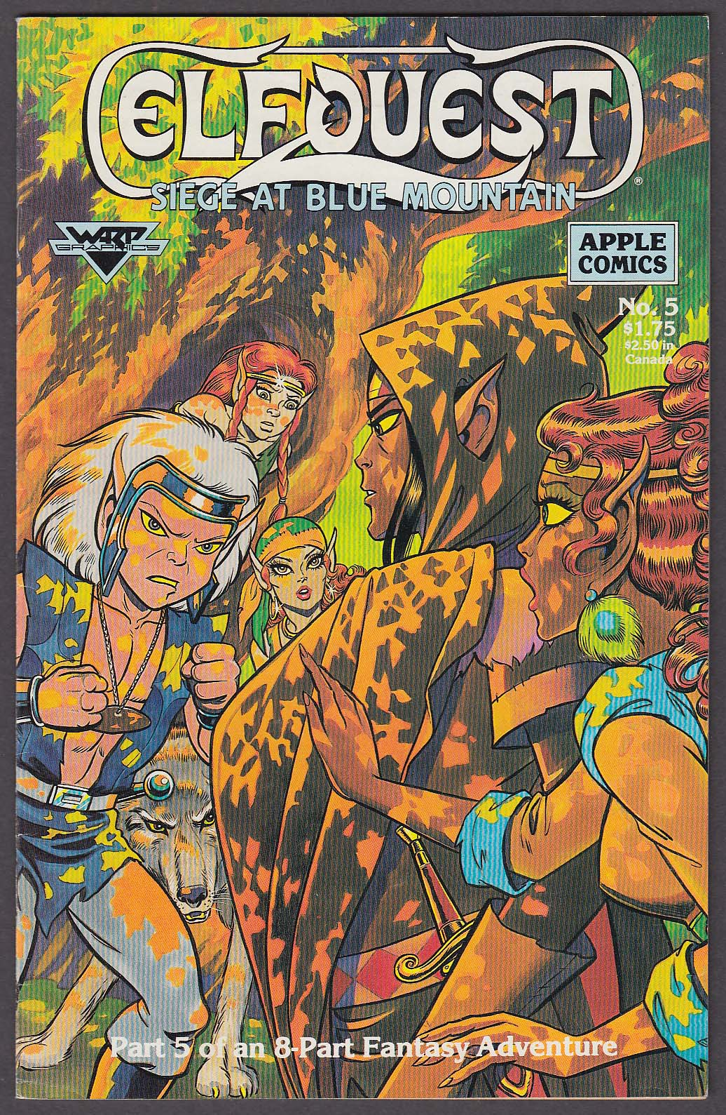 Image for ELFQUEST Siege at Blue Mountain #5 Warp Graphics comic book 11 1987