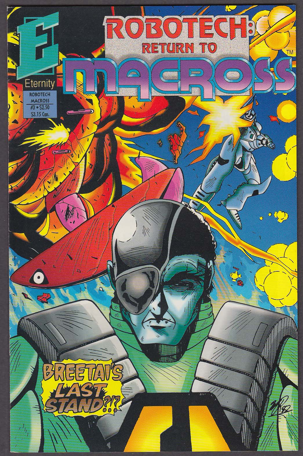 Image for ROBOTECH: RETURN TO MACROSS #3 Eternity comic book 5 1993