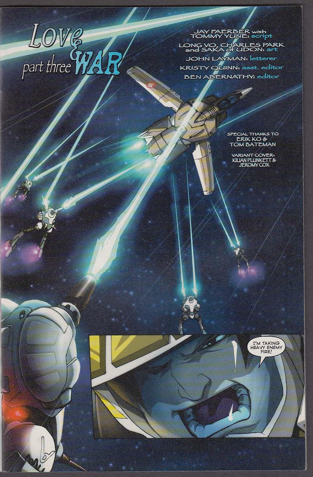 Image for ROBOTECH LOVE & WAR #3 WildStorm comic book 10 2003