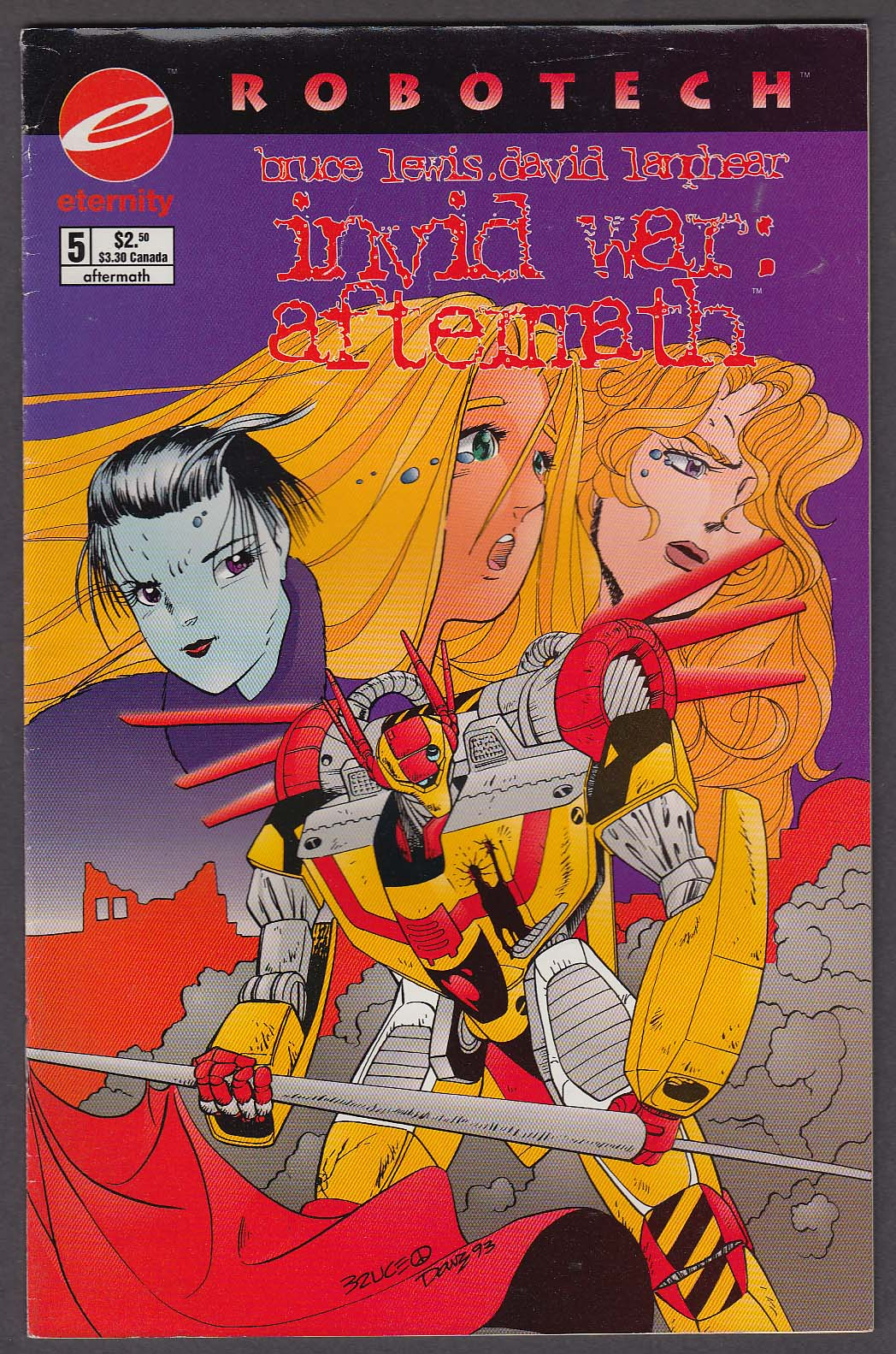 Image for ROBOTECH INVID WAR: AFTERMATH #5 Eternity comic book 1994