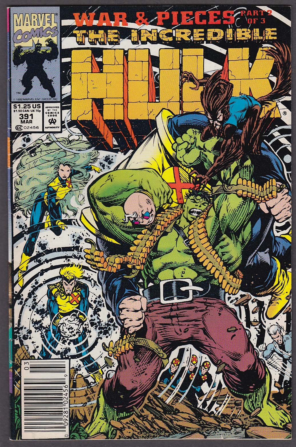 Image for INCREDIBLE HULK #391 Marvel comic book 3 1992