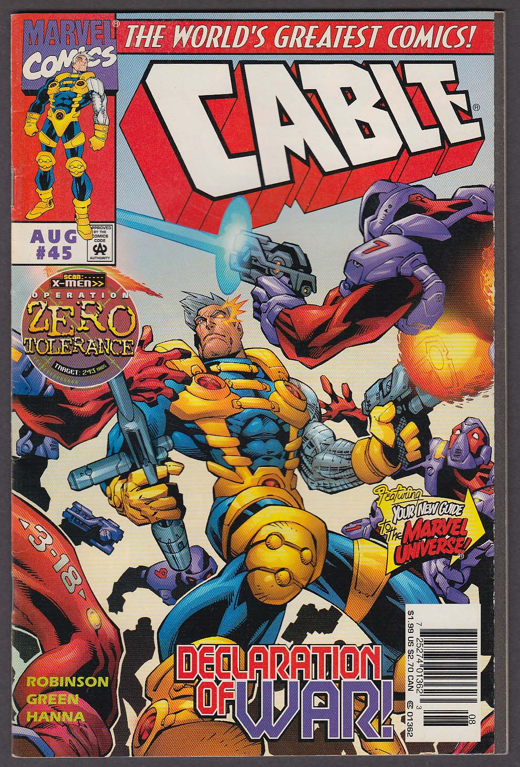 Image for CABLE #45 Marvel comic book 8 1997