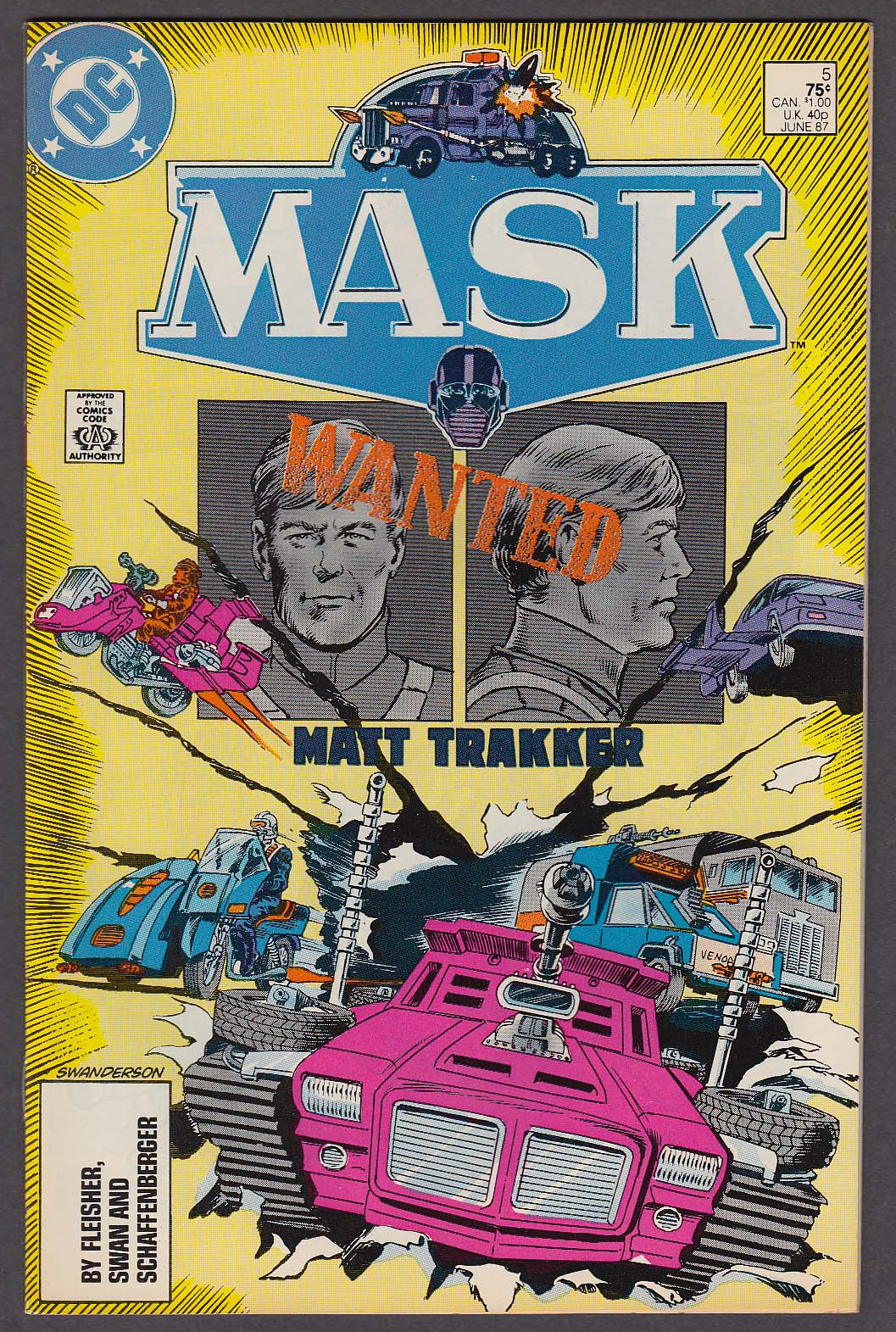 Image for MASK #5 DC comic book 6 1987