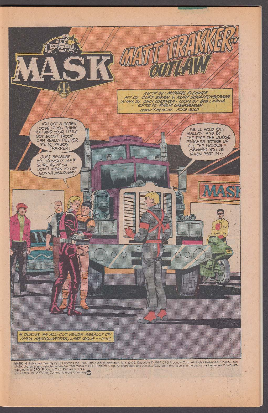 Image for MASK #4 DC comic book 5 1987