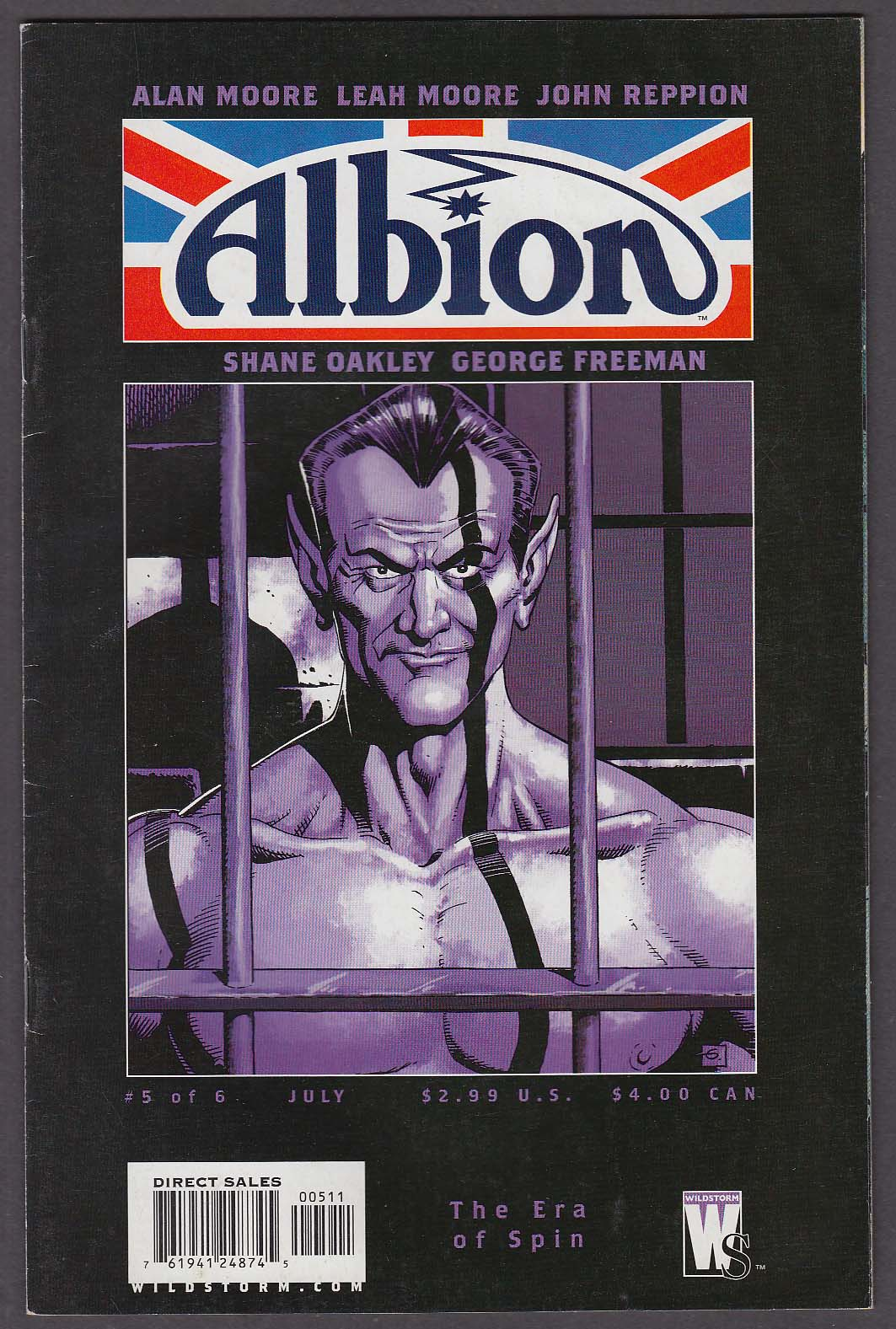 ALBION #5 WildStorm comic book 7 2006 Alan Moore