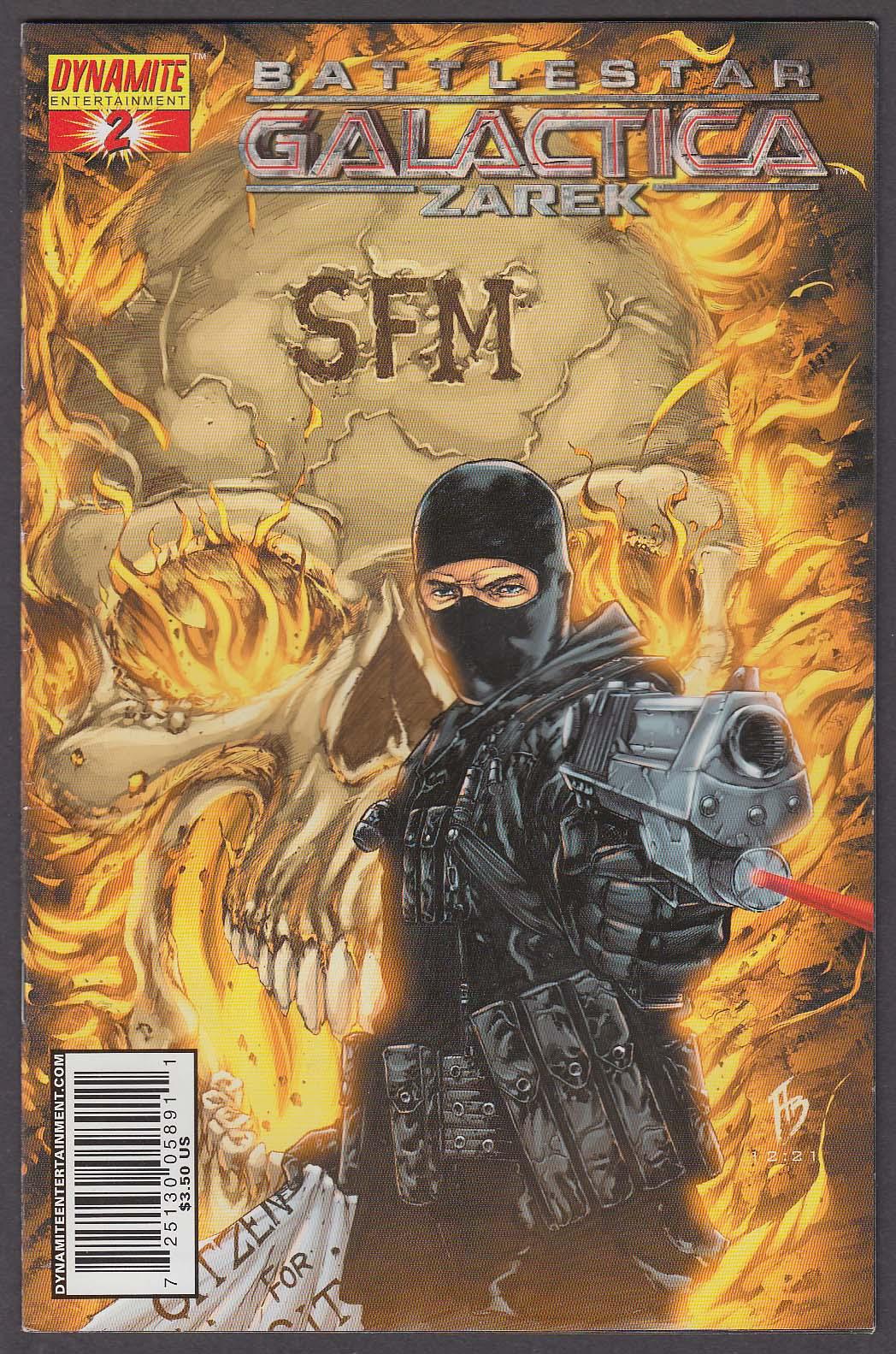 BATTLESTAR GALACTICA ZAREK #2 Dynamite comic book 2007 1st Printing