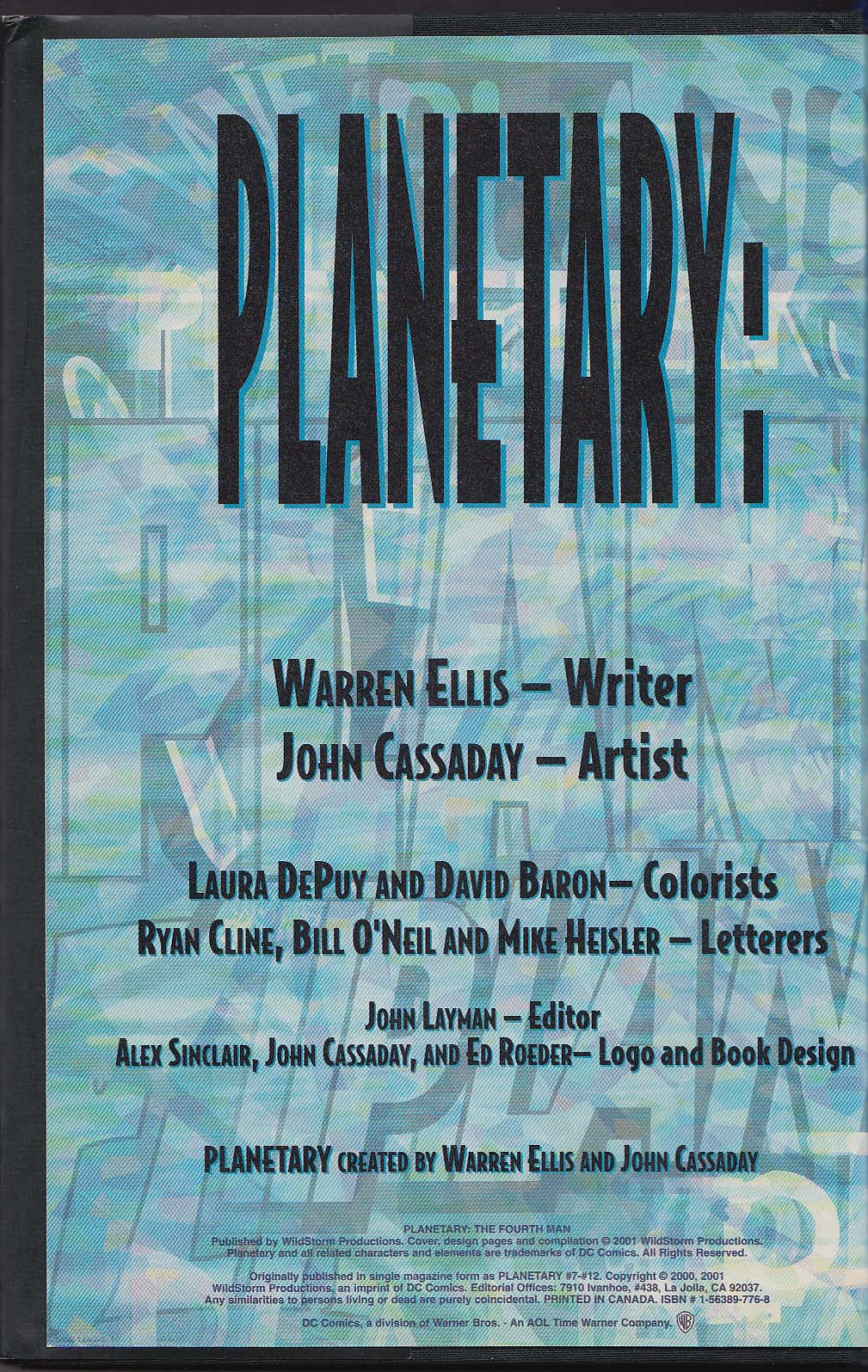 Image for PLANETARY #2 The Fourth Man hardcover comic book 2001