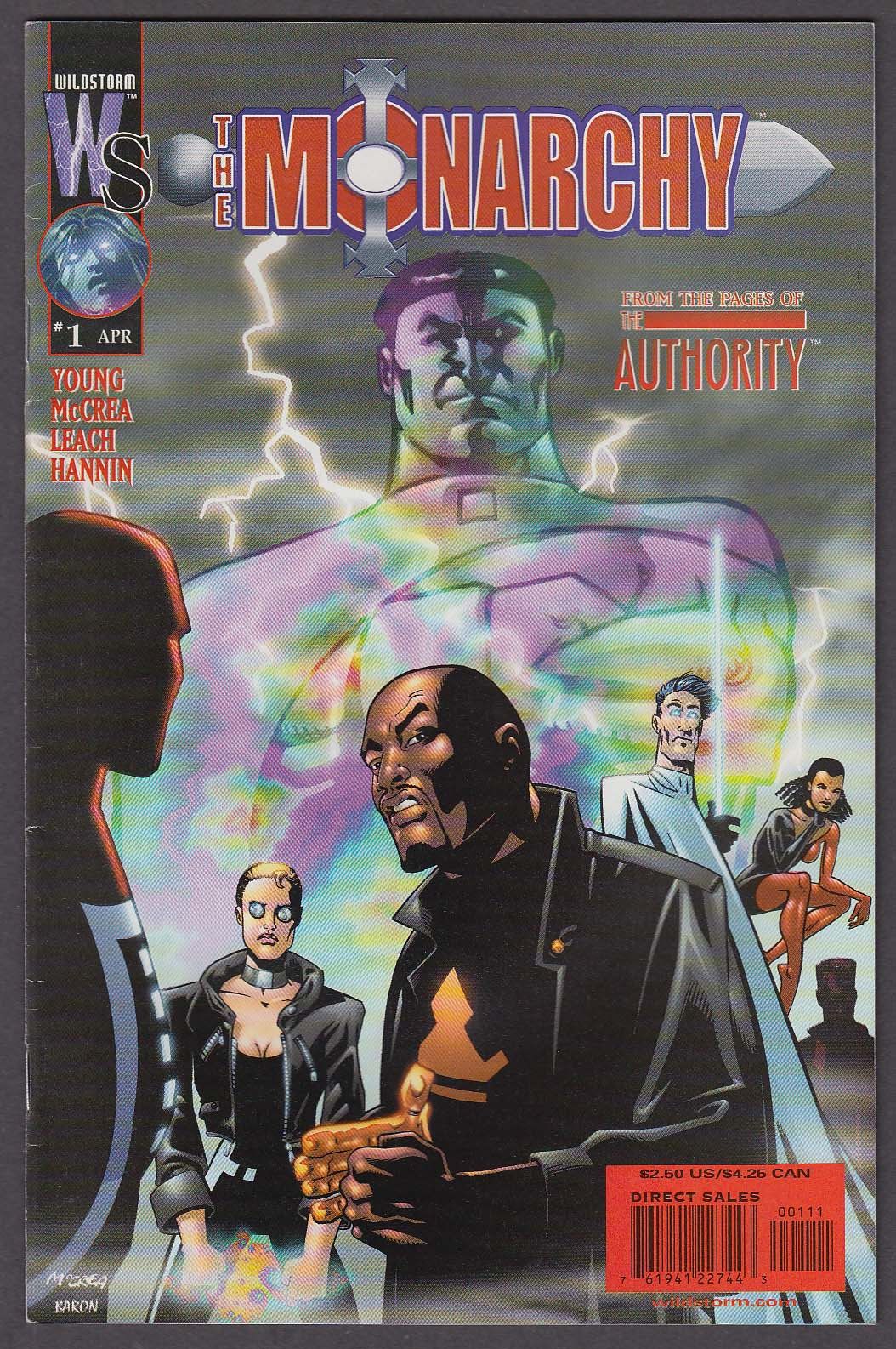 Image for The MONARCHY #1 WildStorm comic book 4 2001