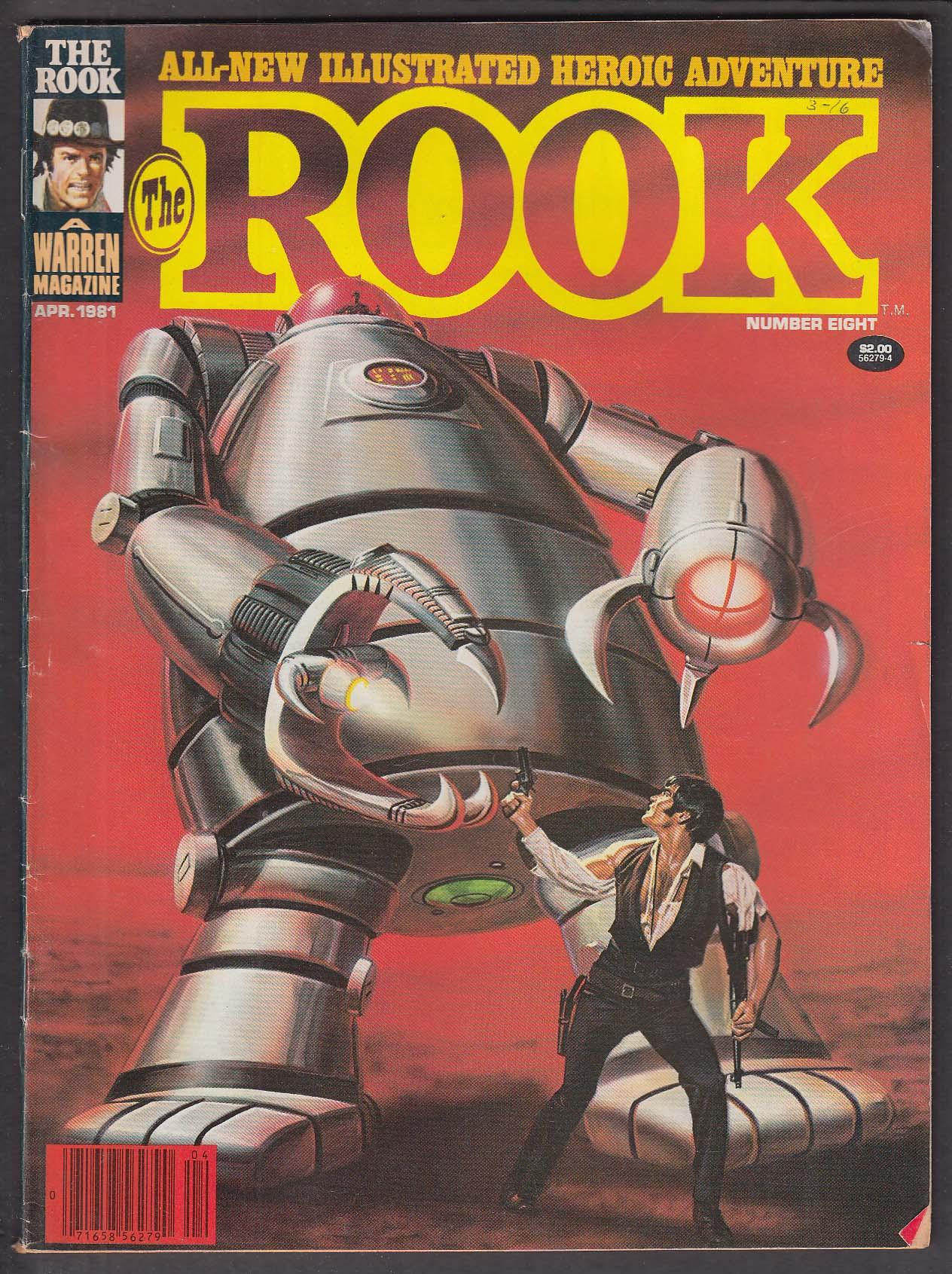 The ROOK #8 Warren comic magazine 4 1981