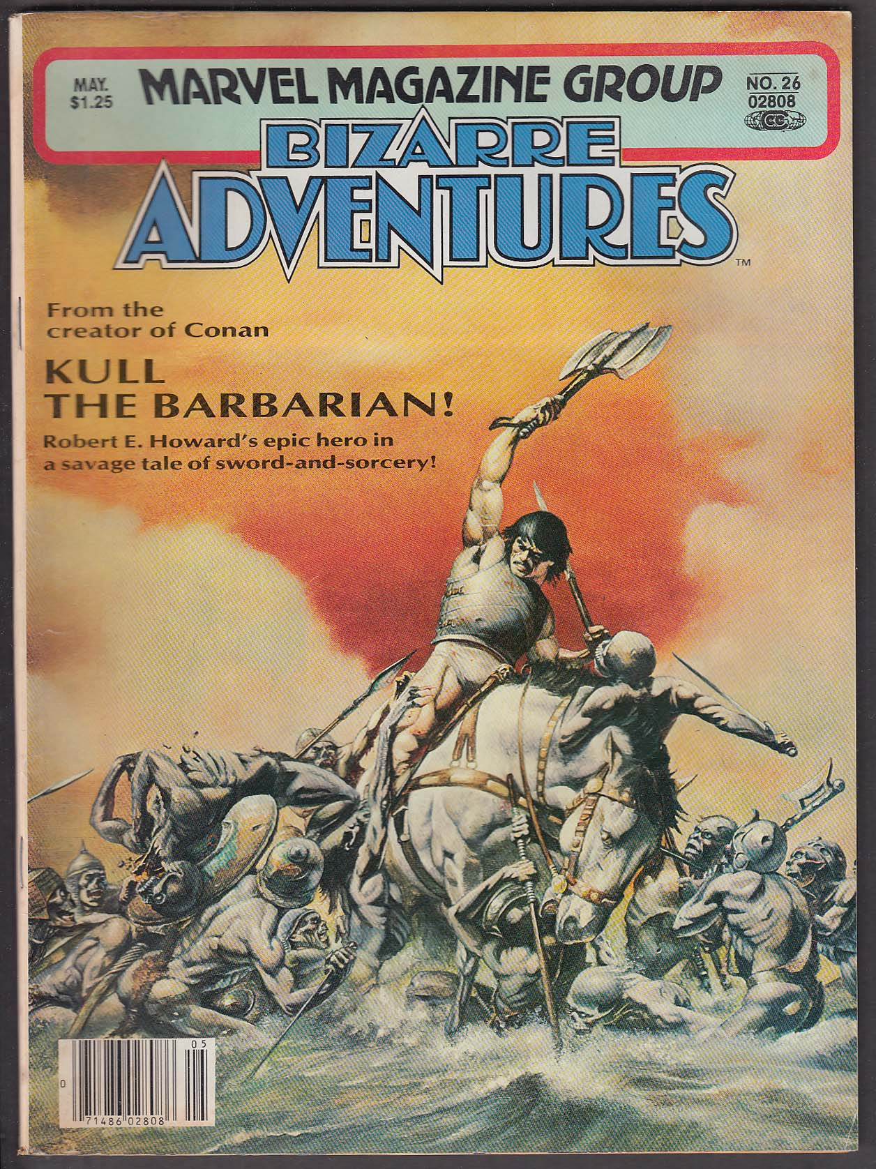 BIZARRE ADVENTURES #26 Marvel comic book 5 1981 Kull the Barbarian ++