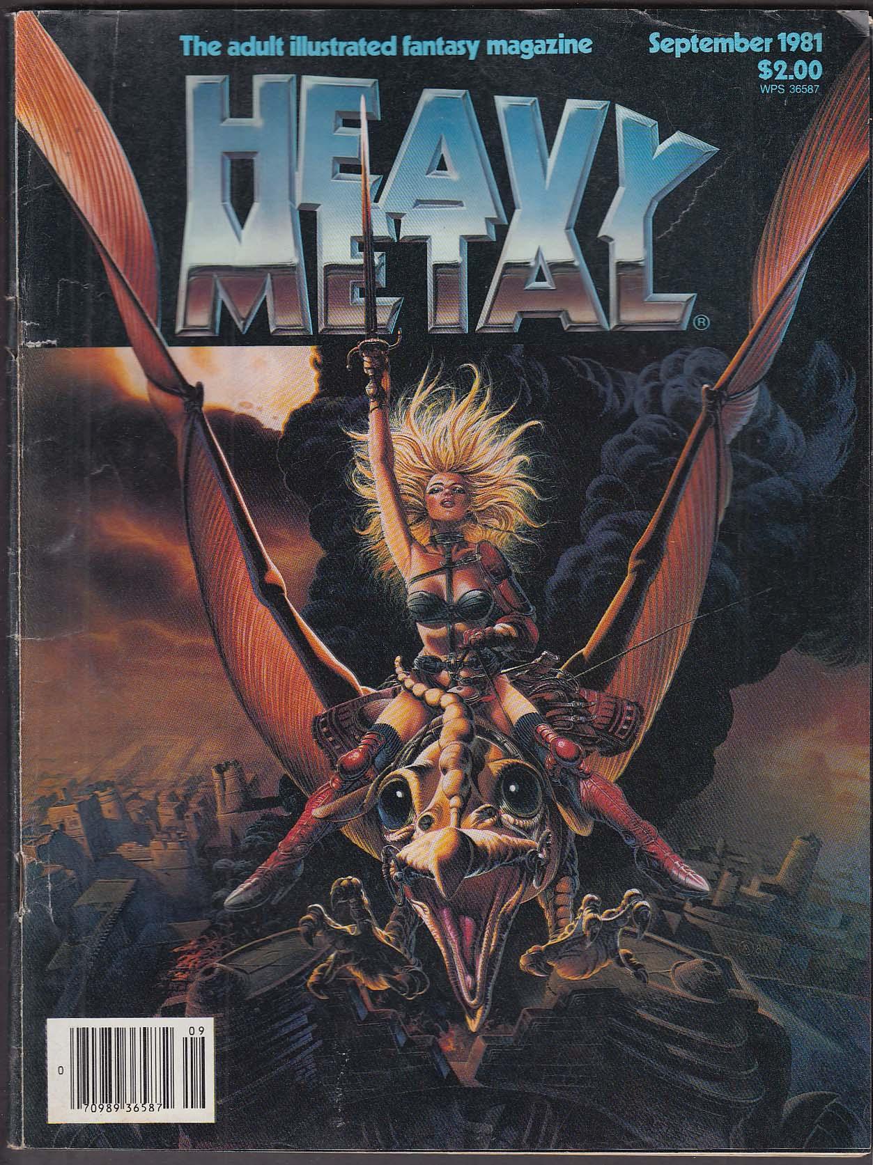 HEAVY METAL Taarna Richard Corben Enki Bilal Juan Gimenez Jim Steranko ++ 9 1981