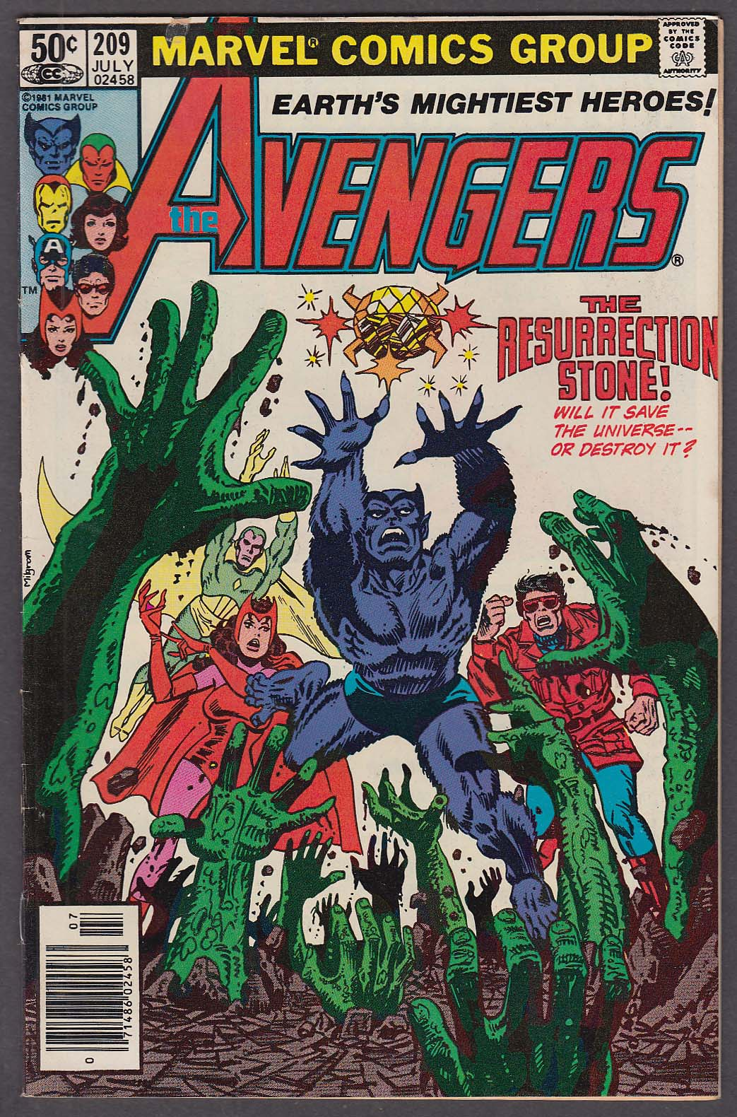 The AVENGERS #209 Marvel comic book 7 1981