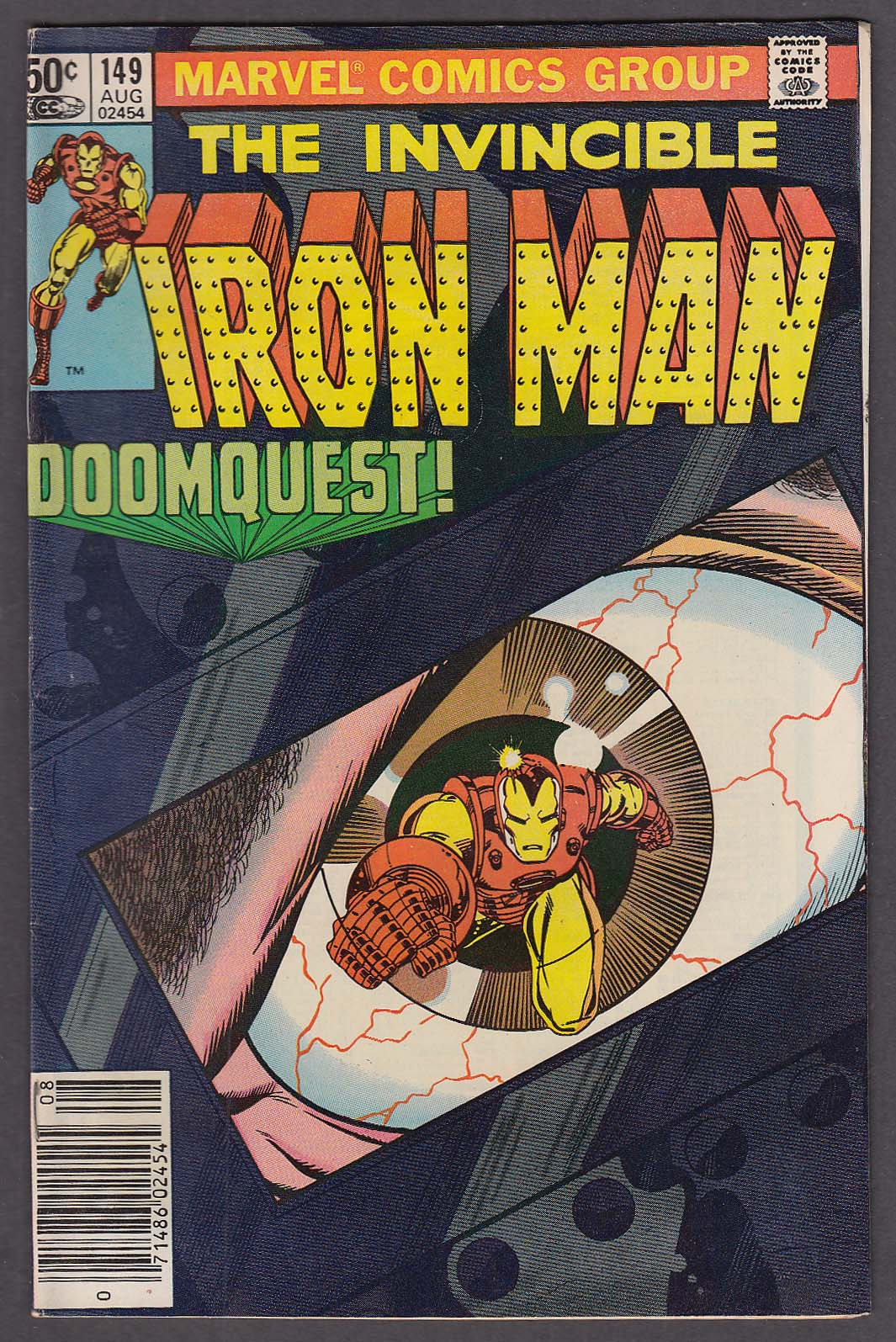 INVINCIBLE IRON MAN #149 Marvel comic book 8 1981 Michelinie Romita Jr Dr Doom