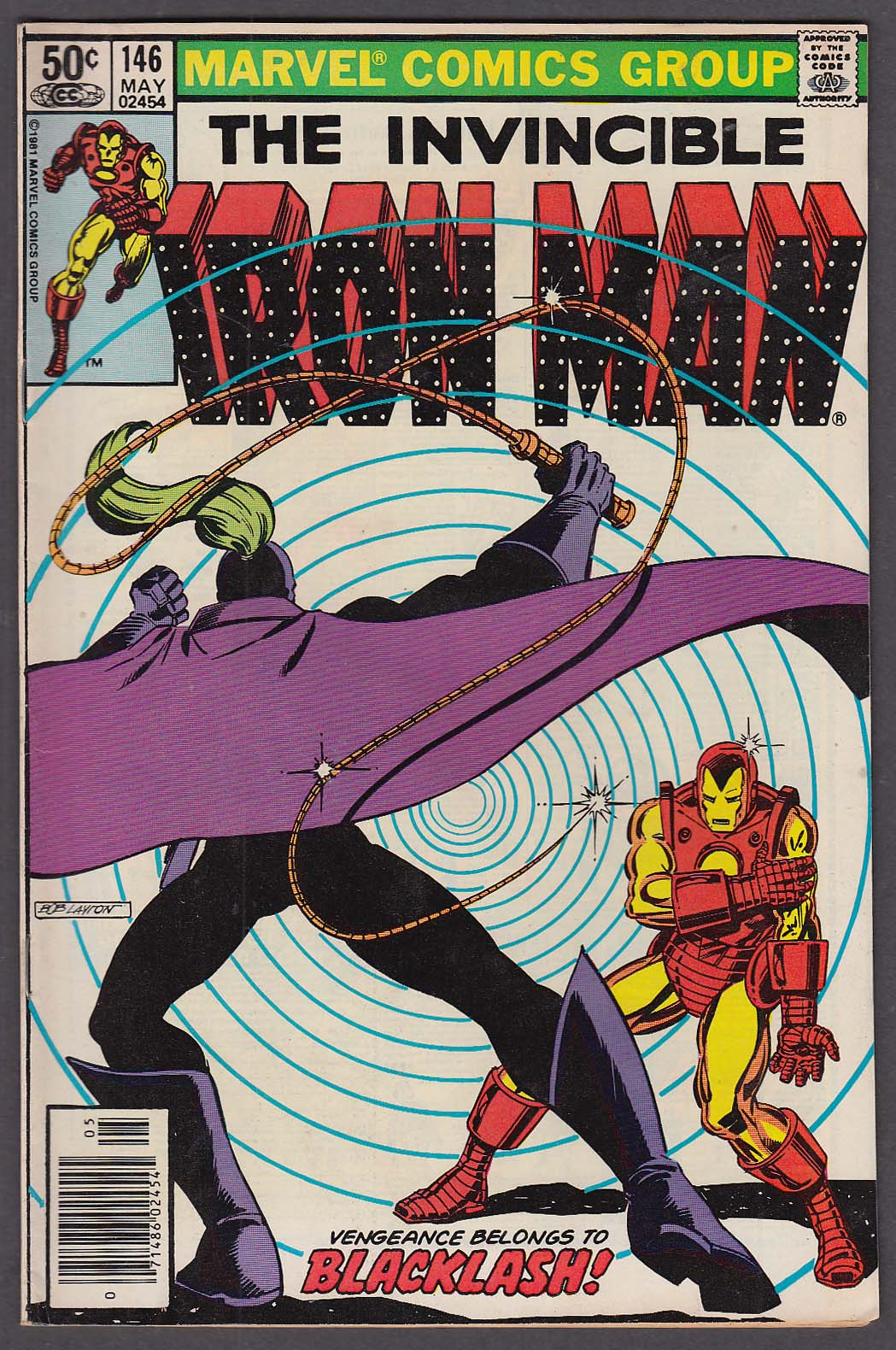 INVINCIBLE IRON MAN #146 Marvel comic book 5 1981 Michelinie John Romita Jr