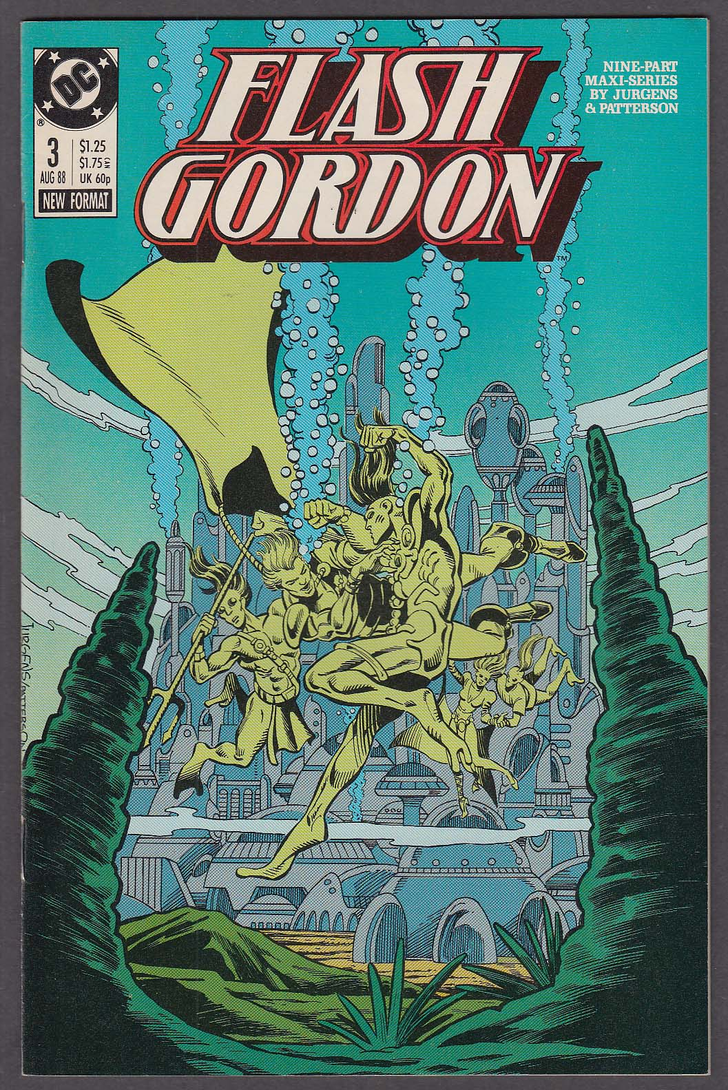 FLASH GORDON #3 DC comic book 8 1988