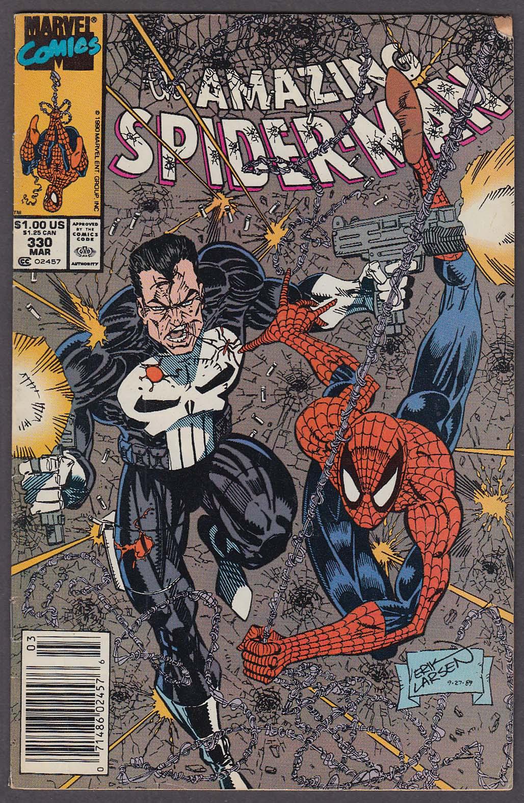 AMAZING SPIDER-MAN #330 Marvel comic book 3 1990 Punisher