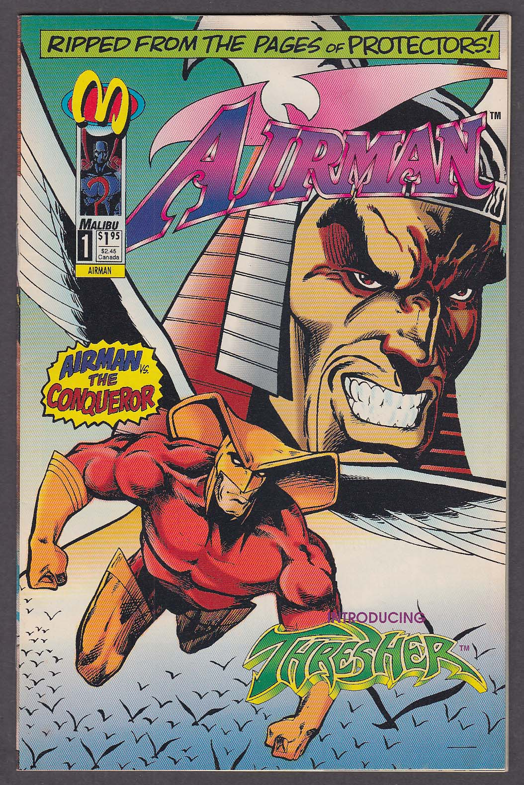 AIRMAN #1 Malibu comic book 1 1993 Thresher