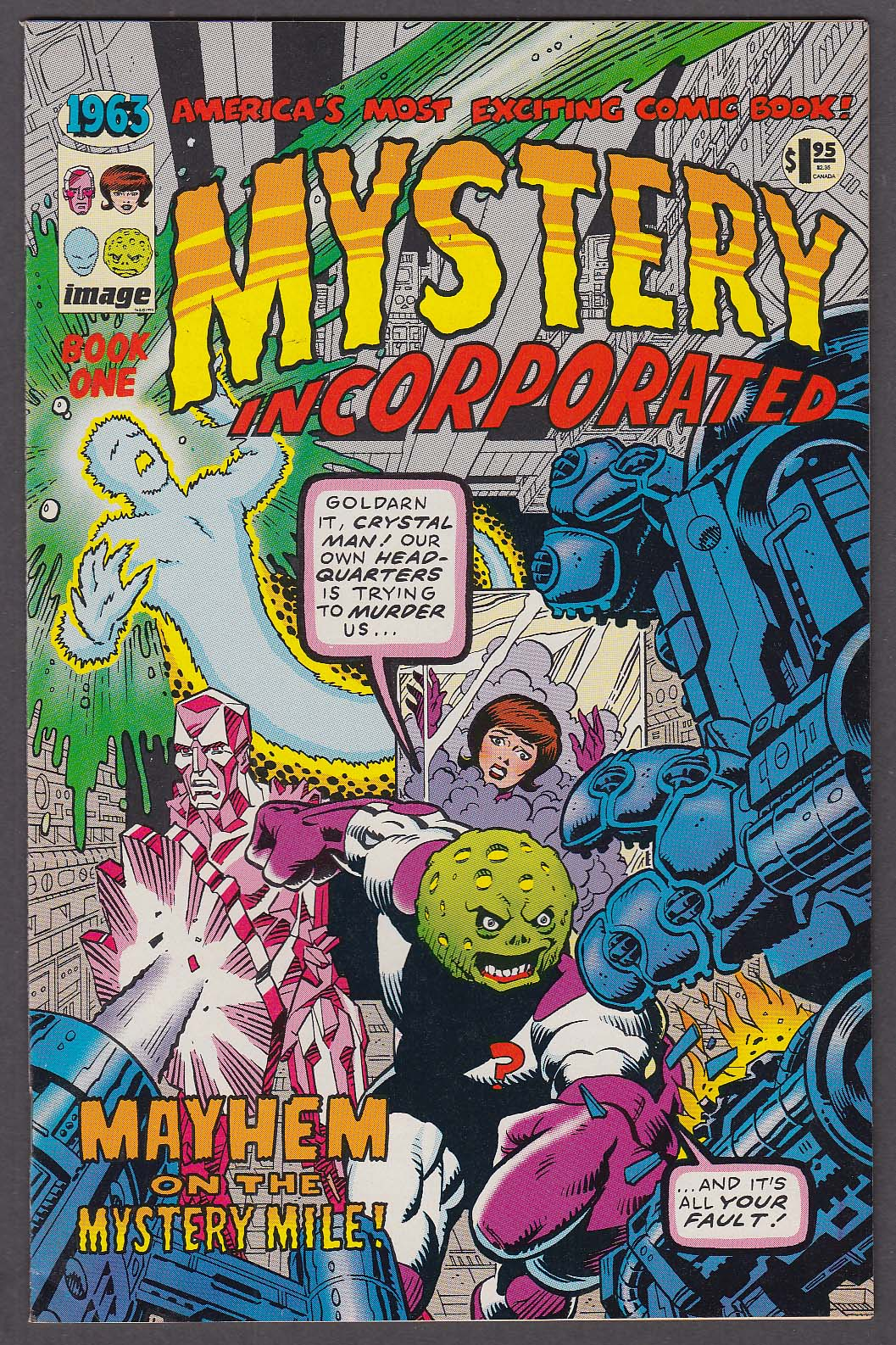 1963 BOOK ONE: MYSTERY INCORPORATED Image comic book 4 1993 1st Printing
