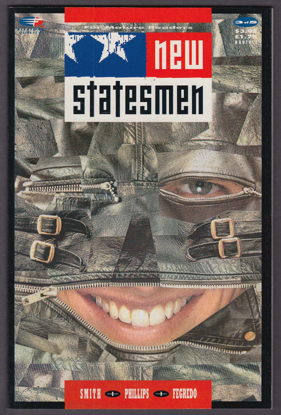 NEW STATESMEN #3 Fleetway Quality comic book 1989
