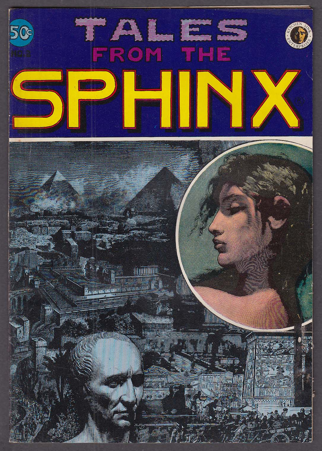 Tales from the SPHINX # 2 Kitchen Sink adults-only comic book 11 1972 1st ed