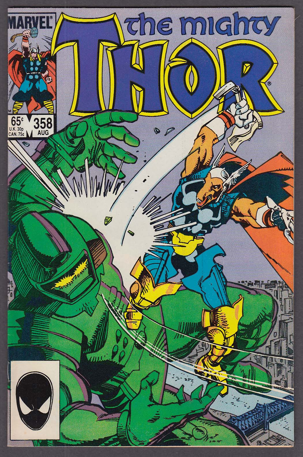 MIGHTY THOR #358 Marvel comic book 8 1985