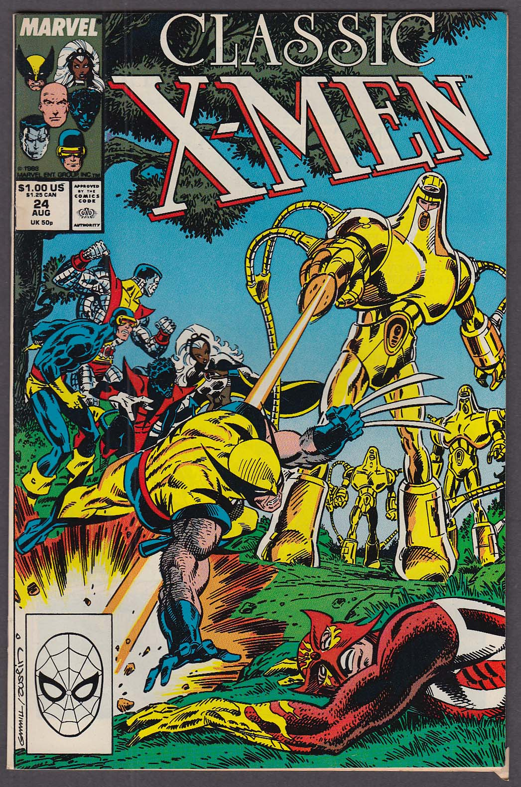 CLASSIC X-MEN #24 Marvel comic book 8 1988