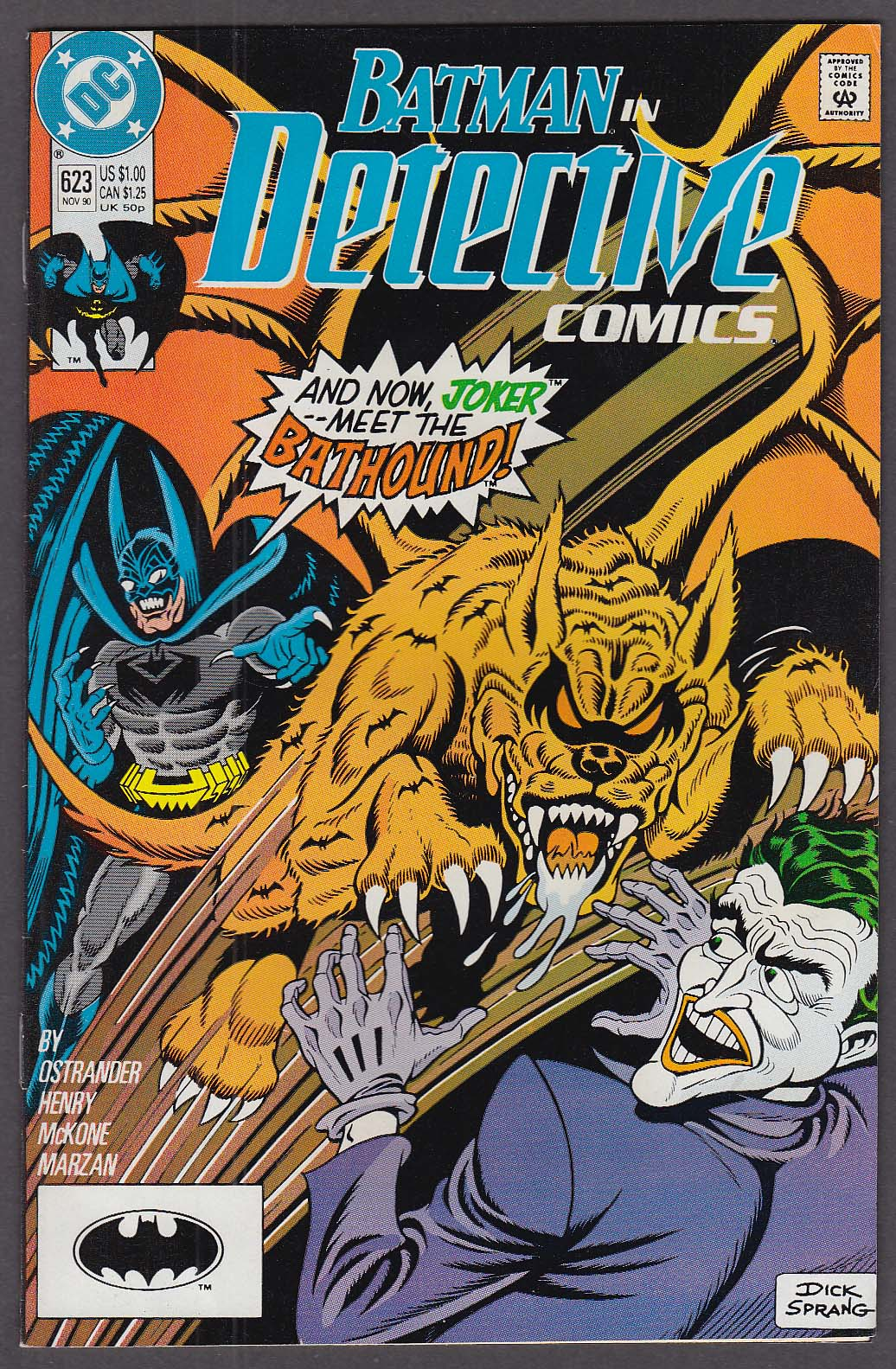 DETECTIVE COMICS #623 DC comic book 11 1990 Batman