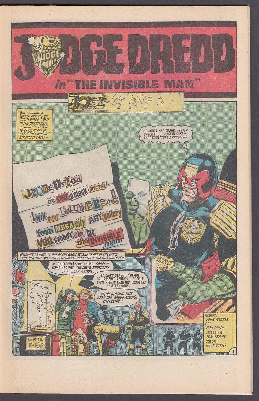 2000 AD MONTHLY #4 Eagle comic book 7 1985 Judge Dredd