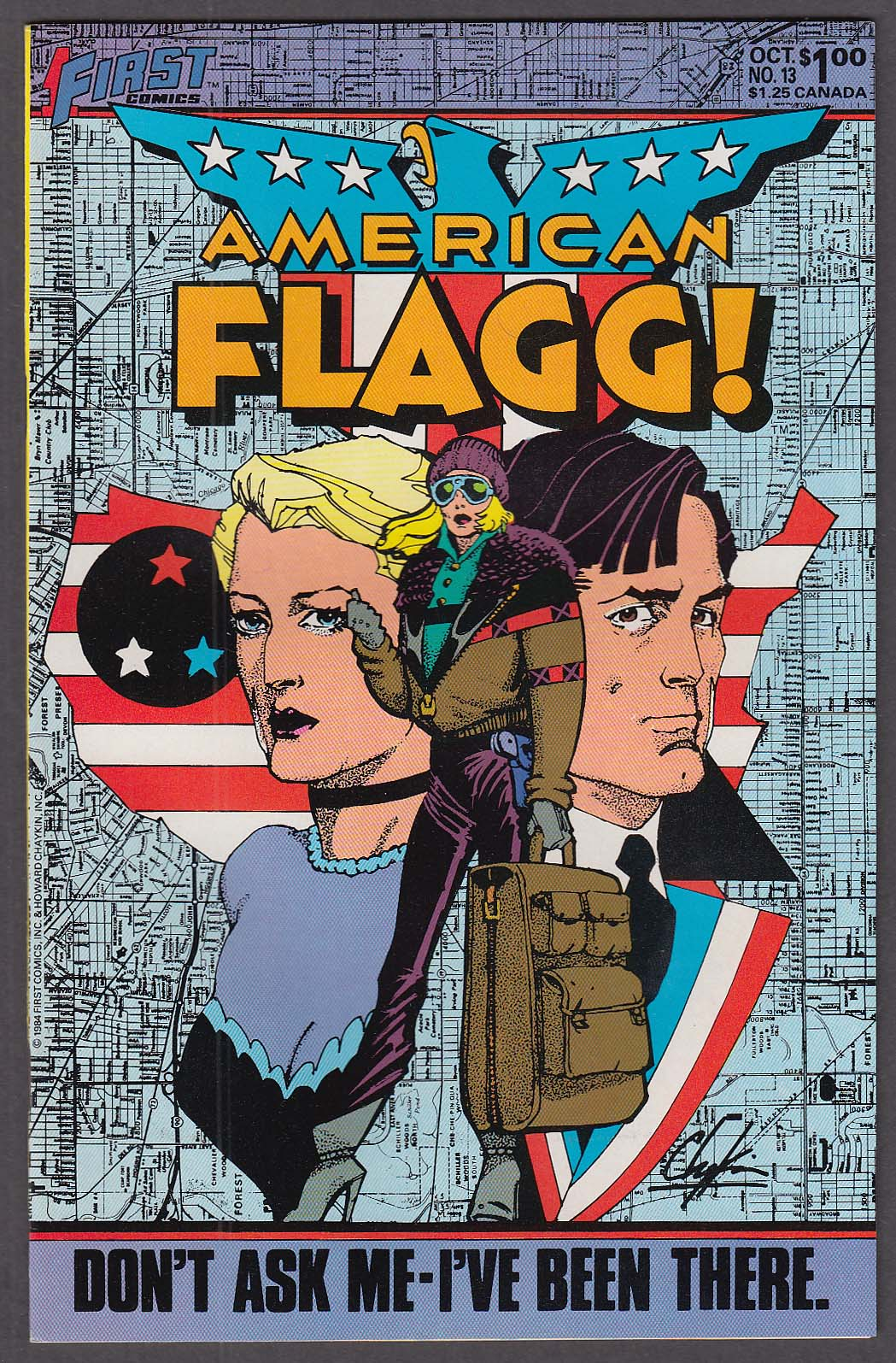 AMERICAN FLAGG! #13 First comic book 10 1984