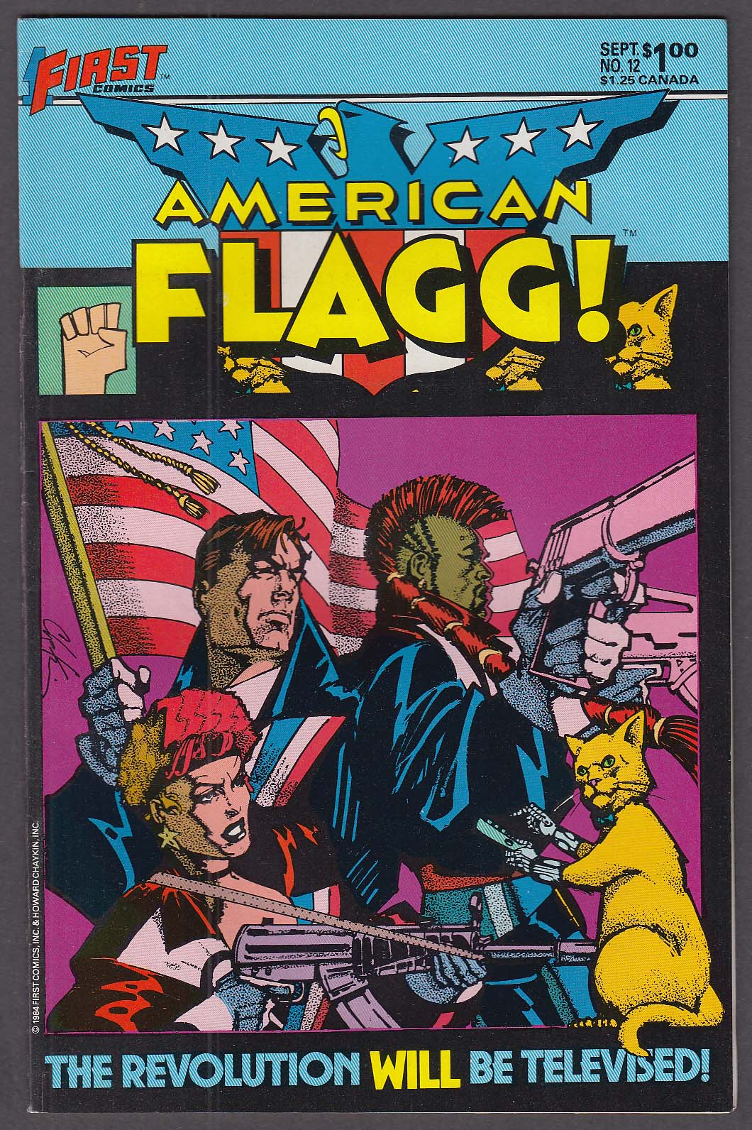 AMERICAN FLAGG! #12 First comic book 9 1984
