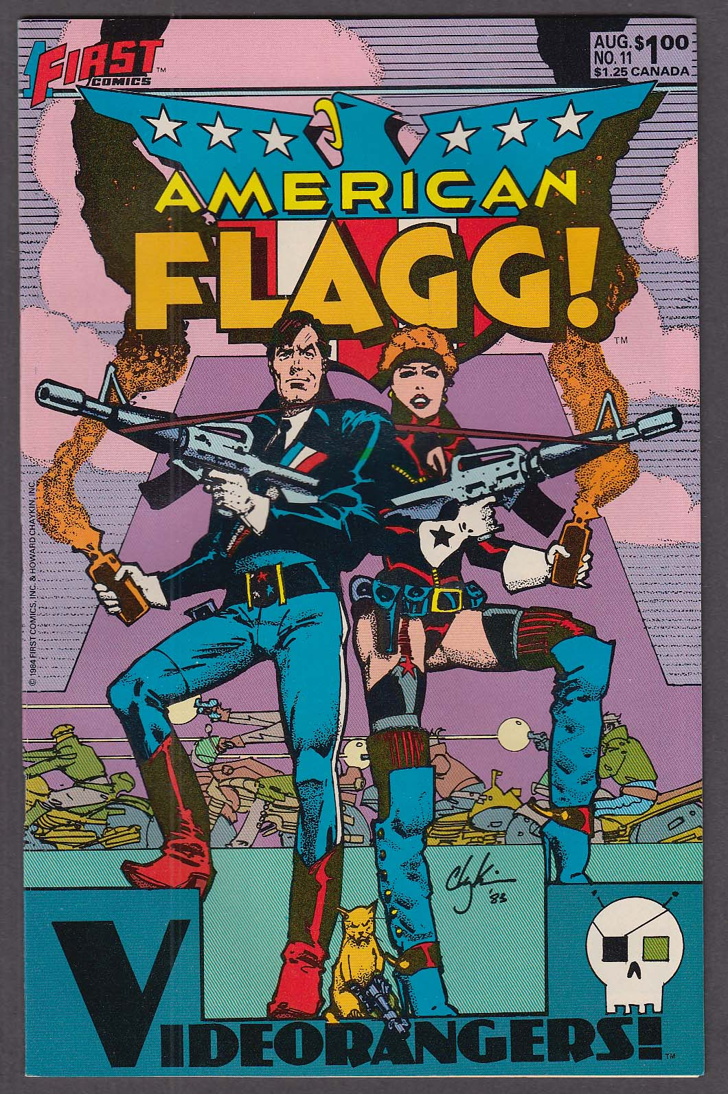 AMERICAN FLAGG! #11 First comic book 8 1984