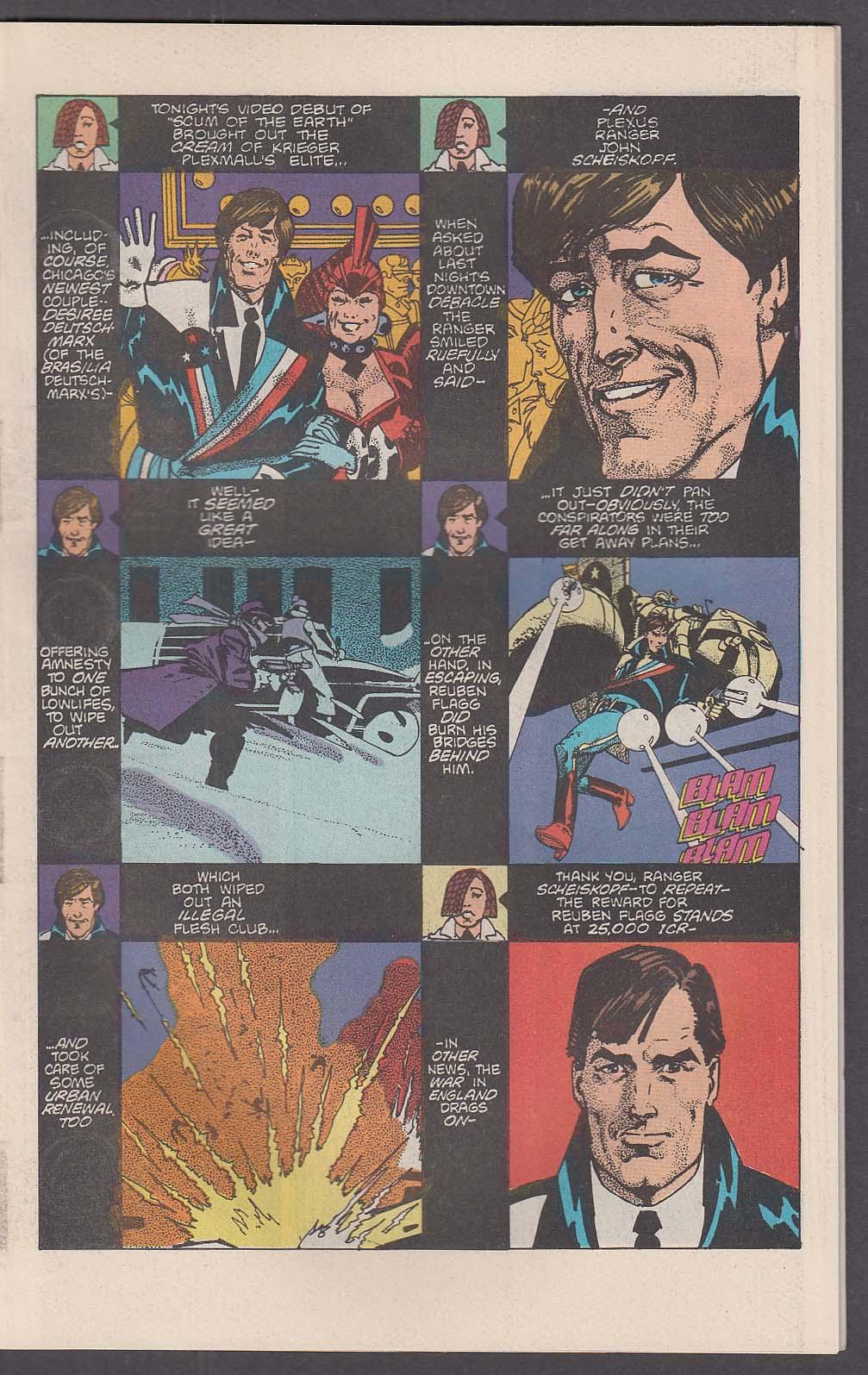 AMERICAN FLAGG! #11 First comic book 8 1984