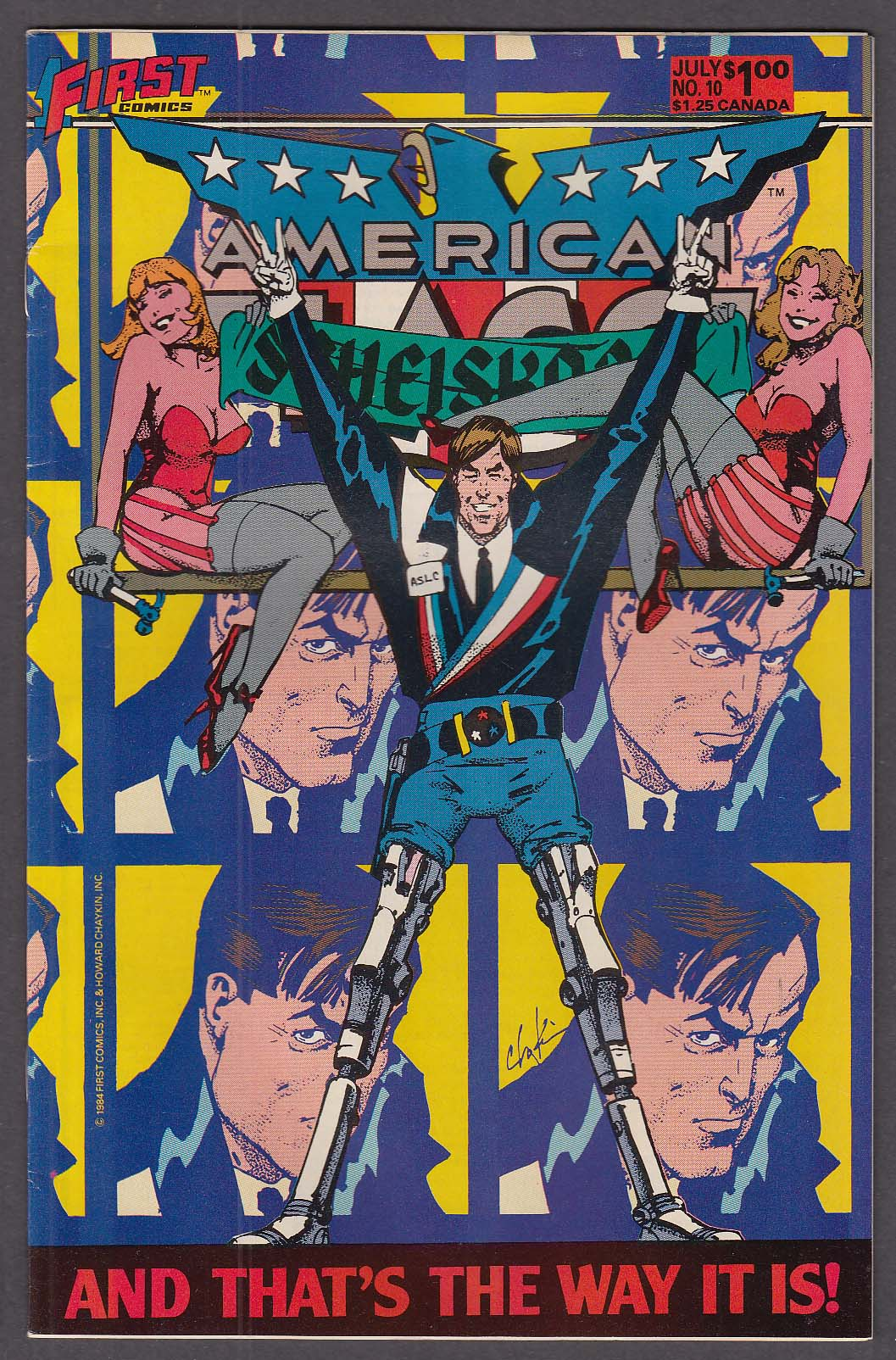 AMERICAN FLAGG! #10 First comic book 7 1984