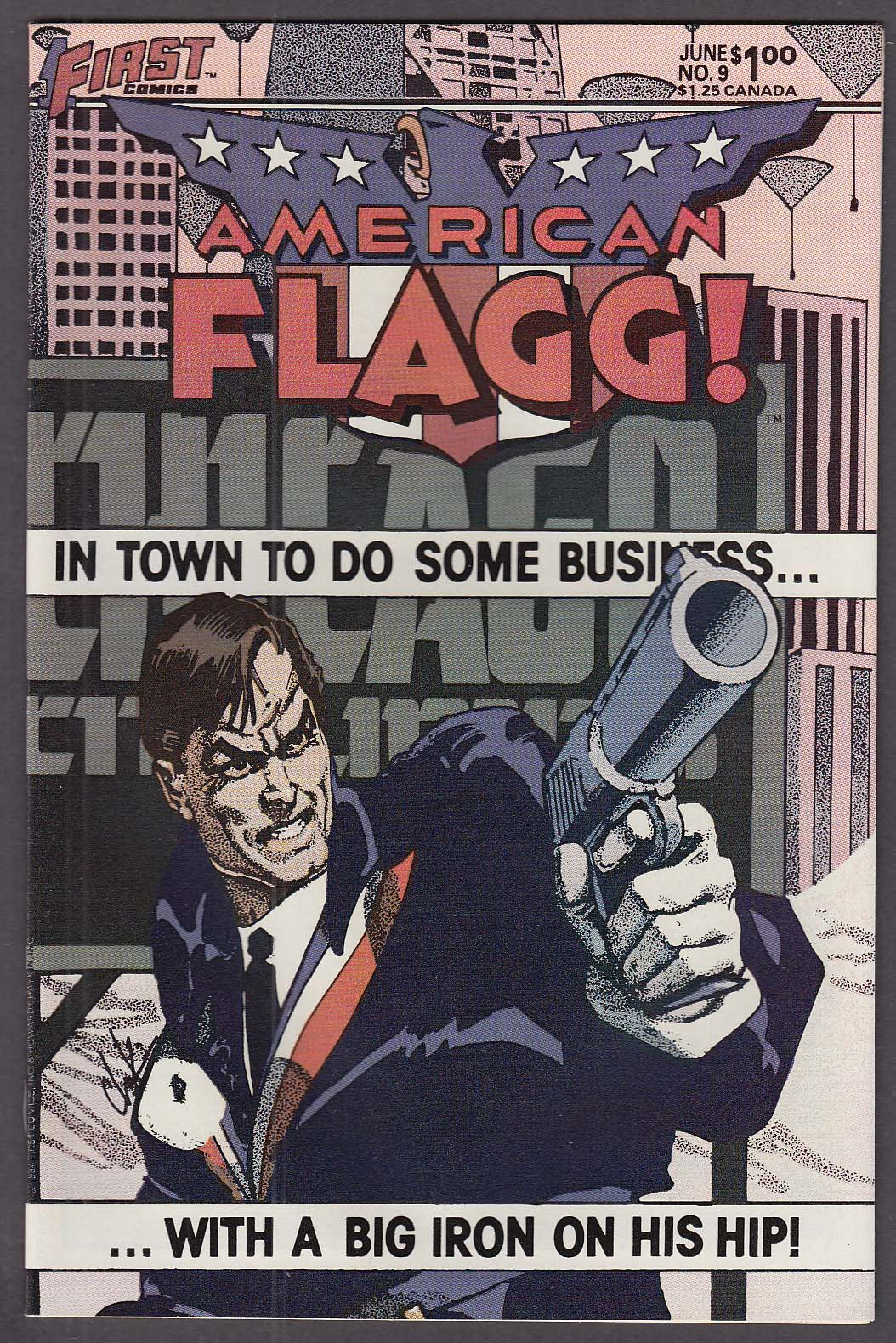 AMERICAN FLAGG! #9 First comic book 6 1984