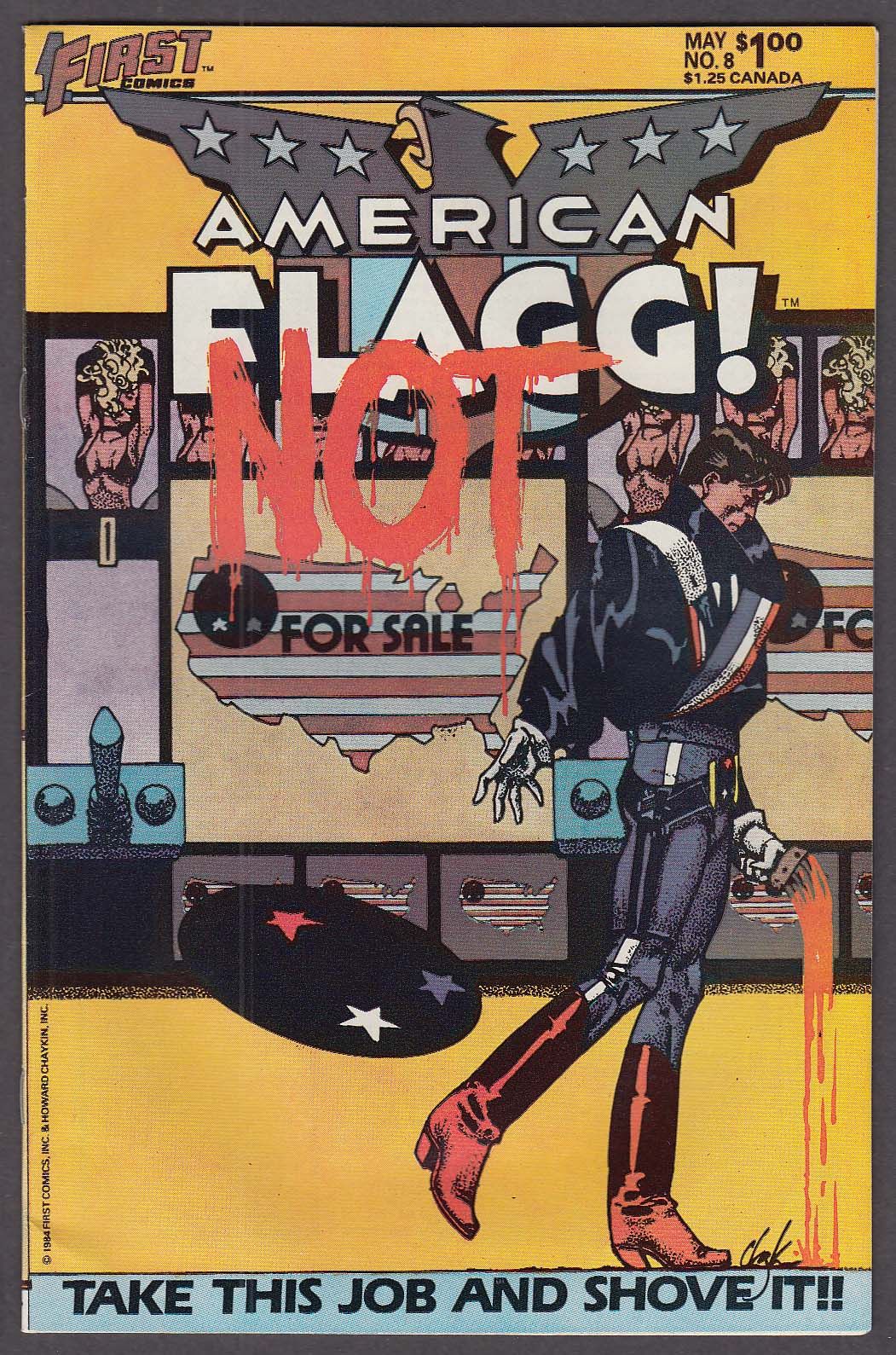 AMERICAN FLAGG! #8 First comic book 5 1984