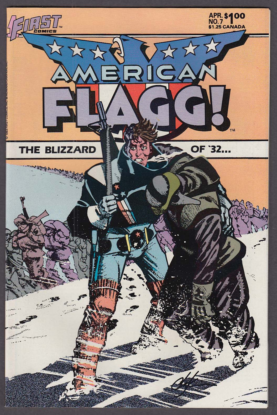 AMERICAN FLAGG! #7 First comic book 4 1984