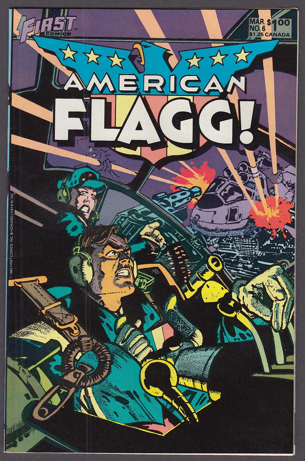 AMERICAN FLAGG! #6 First comic book 3 1984