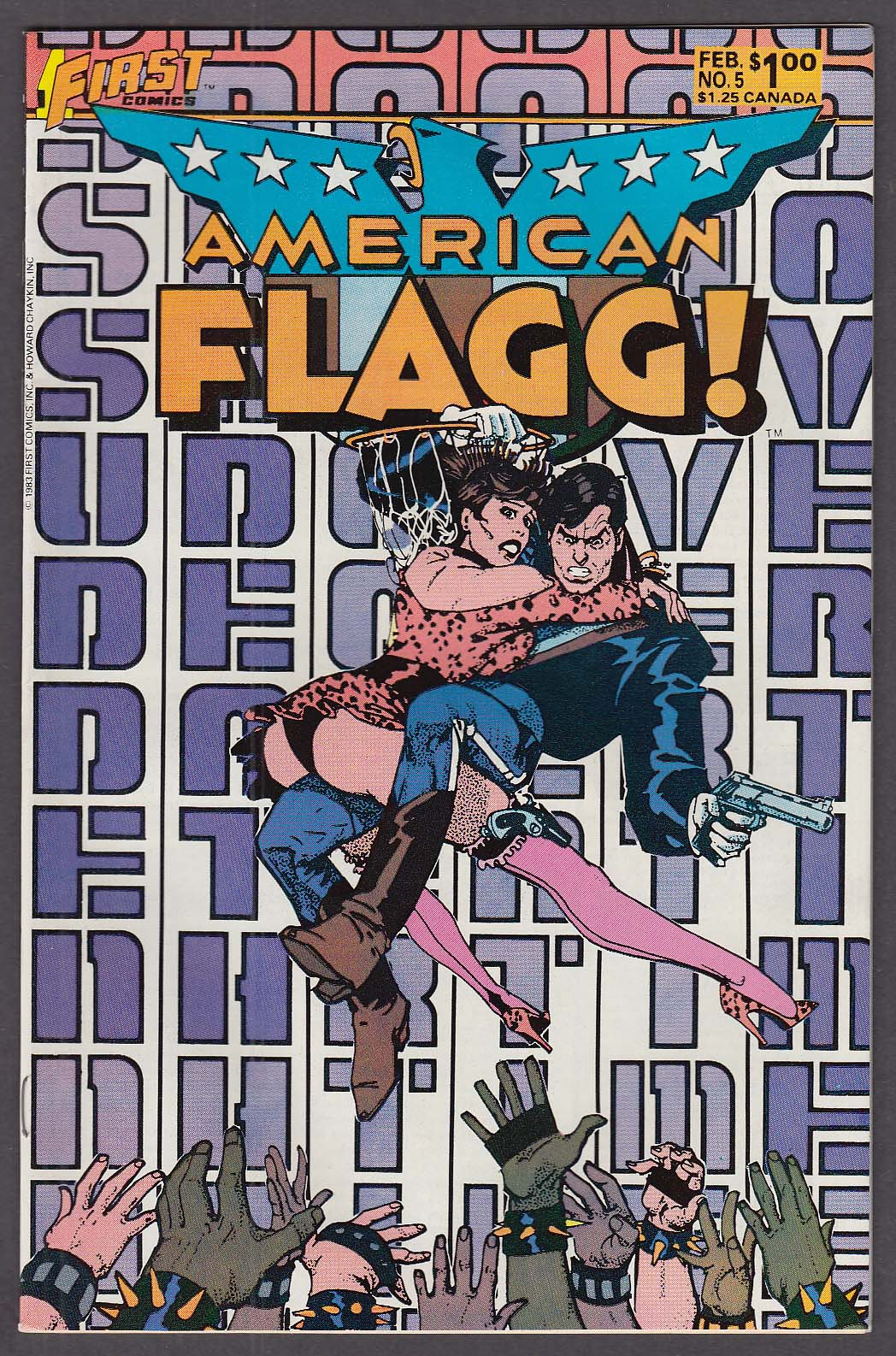 AMERICAN FLAGG! #5 First comic book 1 1984
