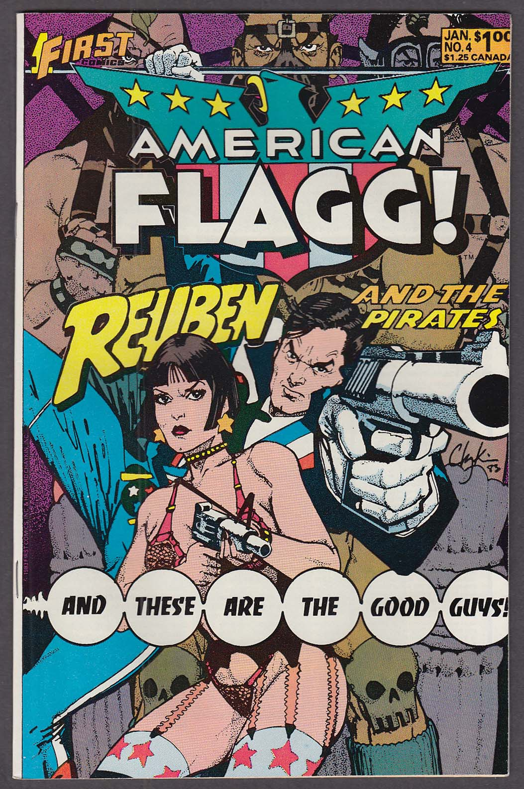 AMERICAN FLAGG! #4 First comic book 1 1984