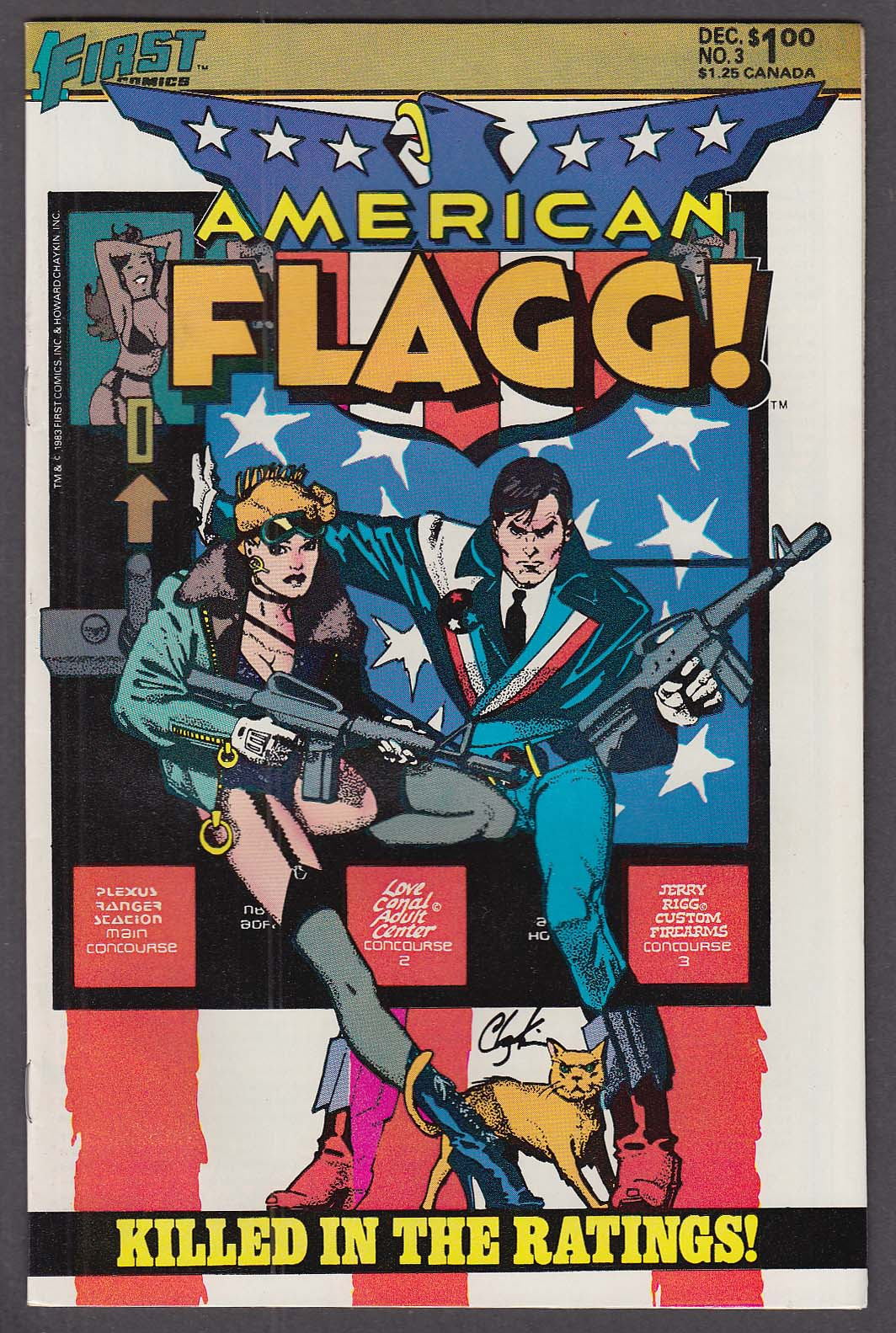 AMERICAN FLAGG! #3 First comic book 12 1983