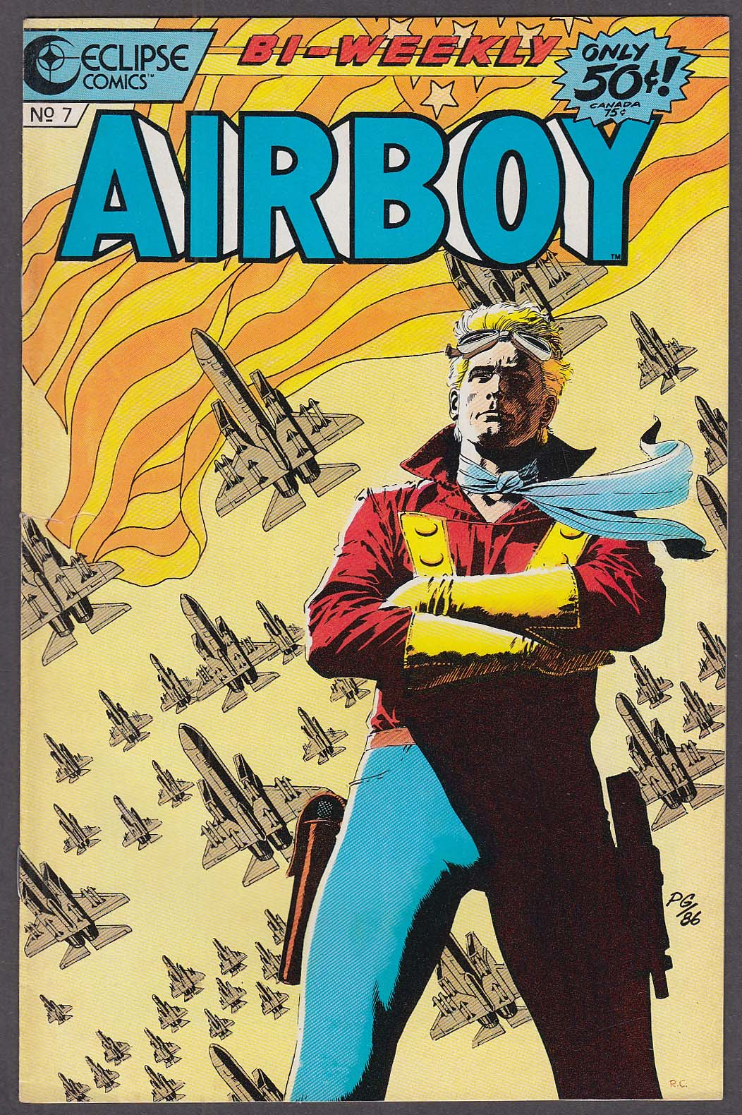 AIRBOY #7 Eclipse comic book 10/7 1986