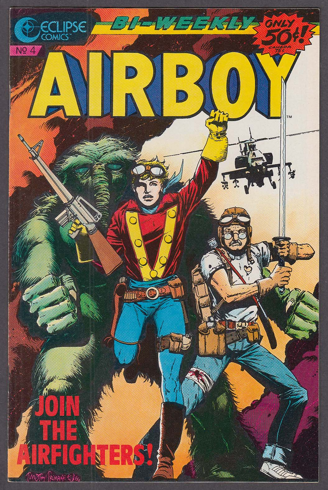 AIRBOY #4 Eclipse comic book 8/26 1986