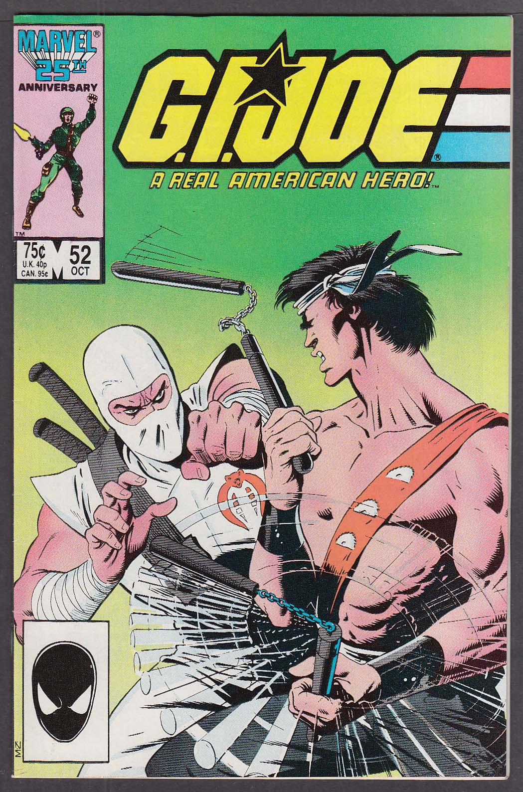 GI JOE #52 Marvel comic book 10 1986