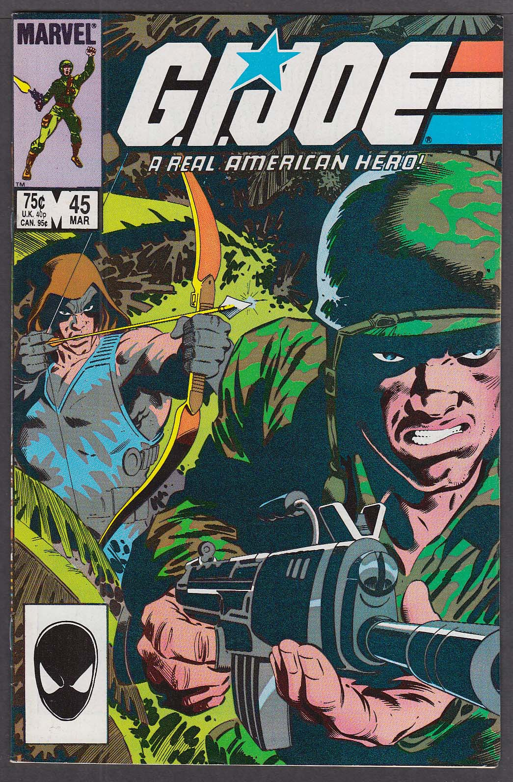 GI JOE #45 Marvel comic book 3 1986
