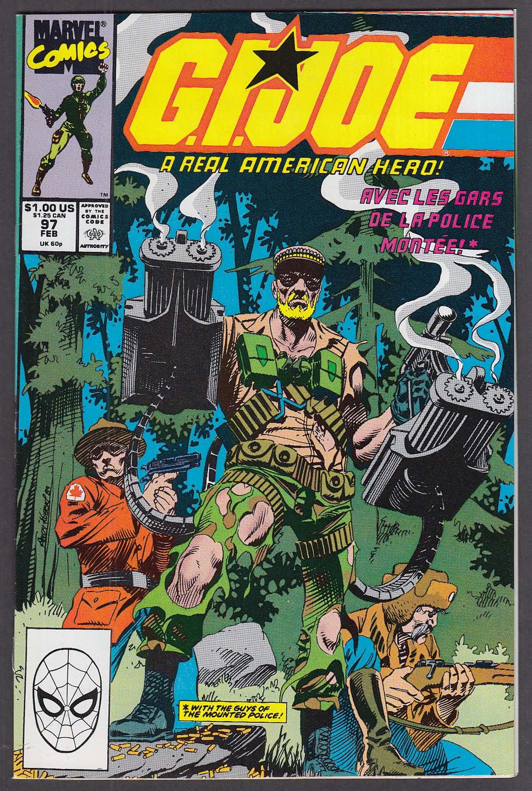 GI JOE #97 Marvel comic book 2 1990