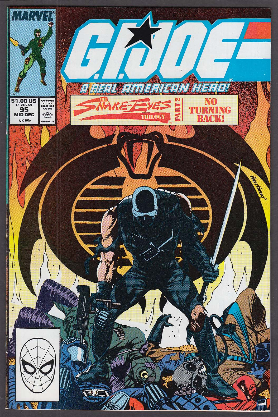 GI JOE #95 Marvel comic book 12 1989